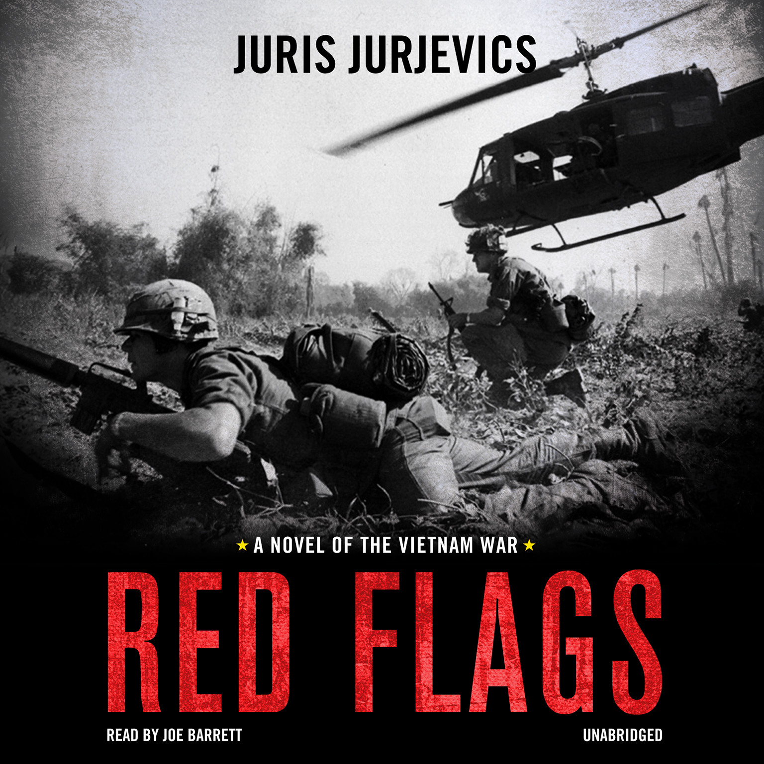 Printable Red Flags: A Novel of the Vietnam War Audiobook Cover Art