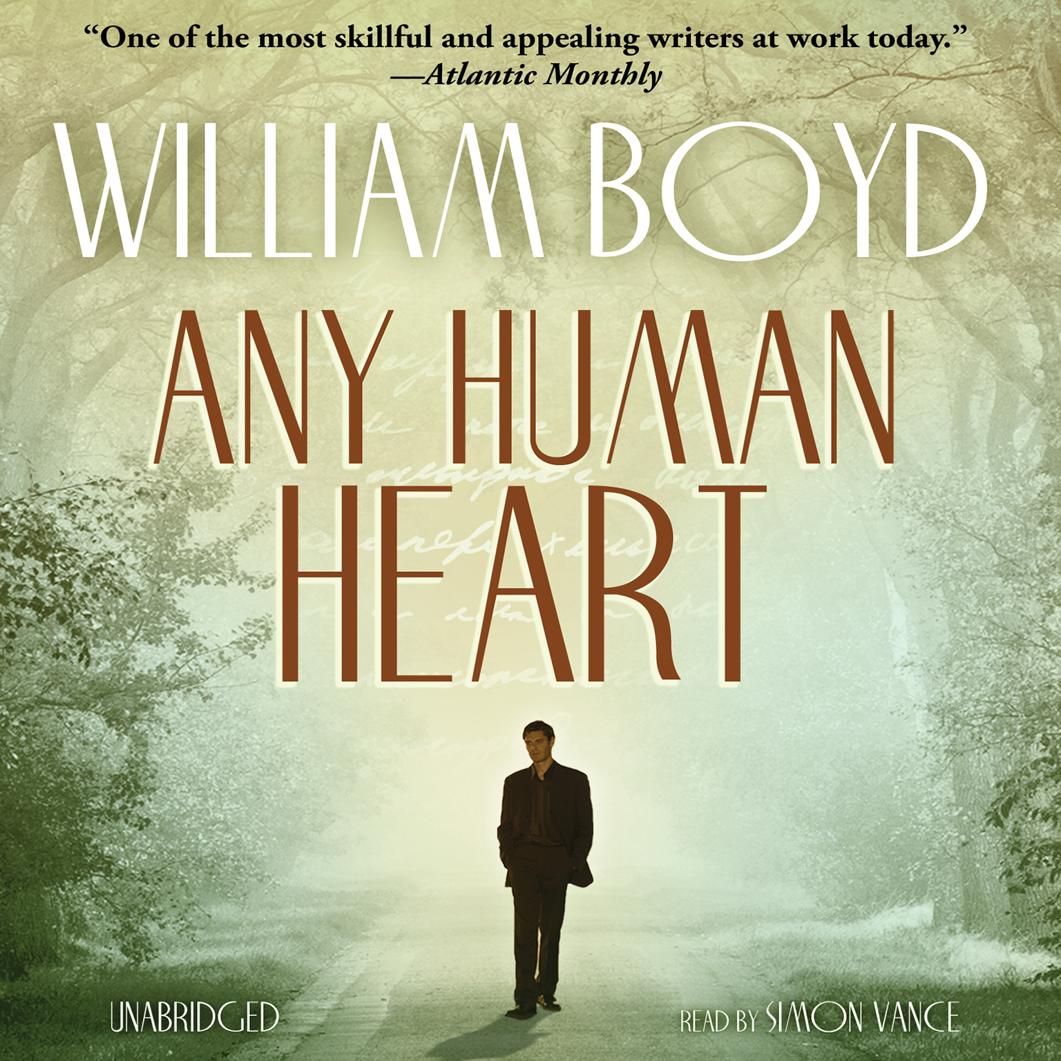Printable Any Human Heart Audiobook Cover Art