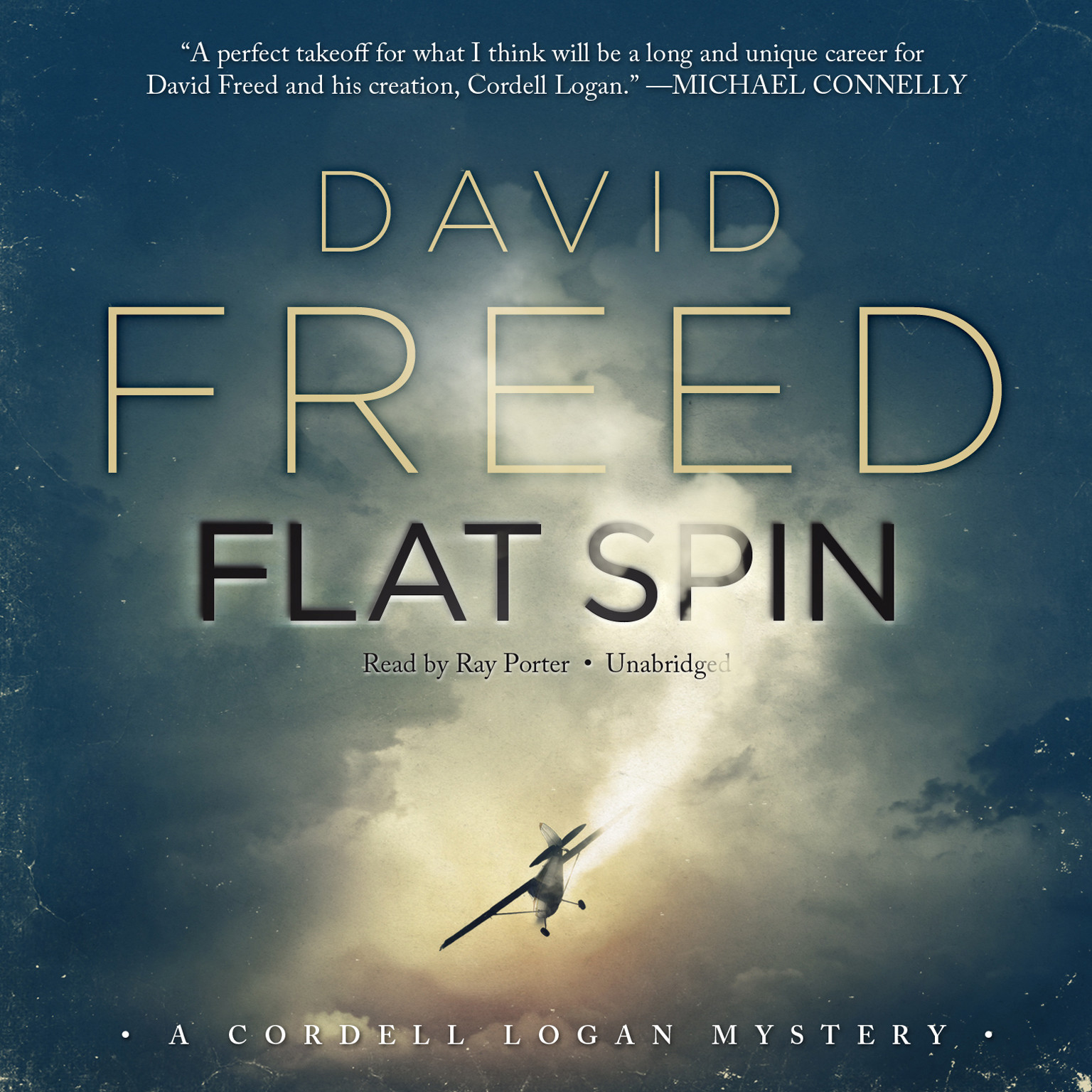 Printable Flat Spin Audiobook Cover Art