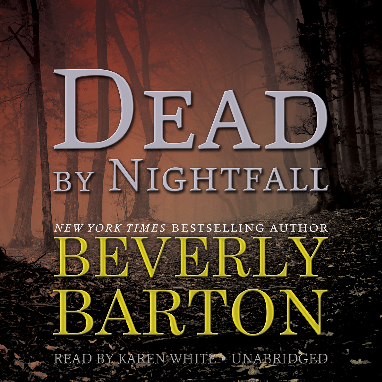 Printable Dead by Nightfall Audiobook Cover Art