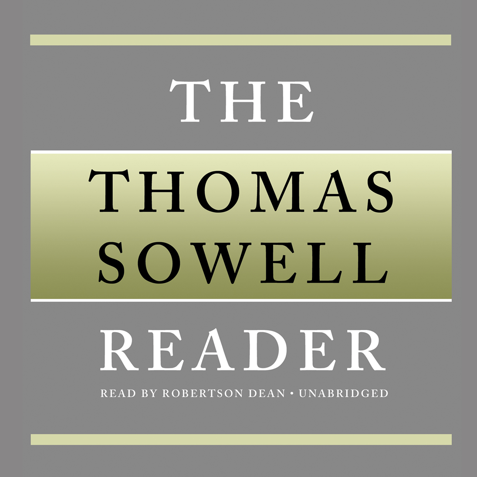 Printable The Thomas Sowell Reader Audiobook Cover Art