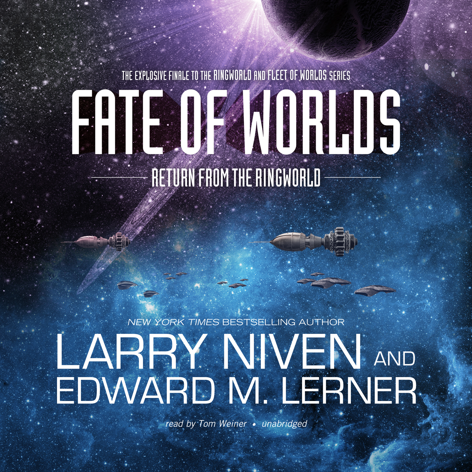 Printable Fate of Worlds: Return from the Ringworld Audiobook Cover Art