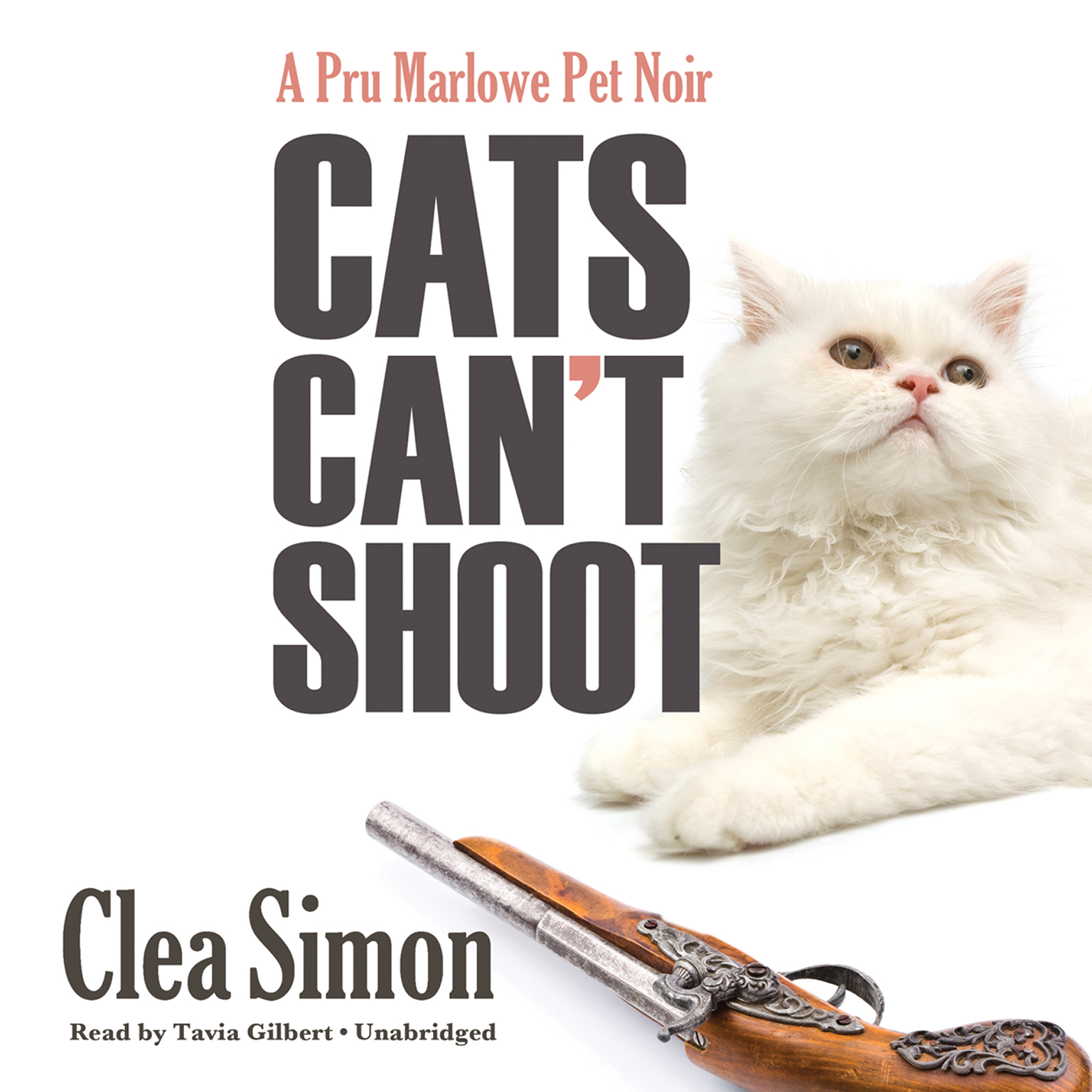 Printable Cats Can't Shoot: A Pru Marlowe Pet Noir Audiobook Cover Art