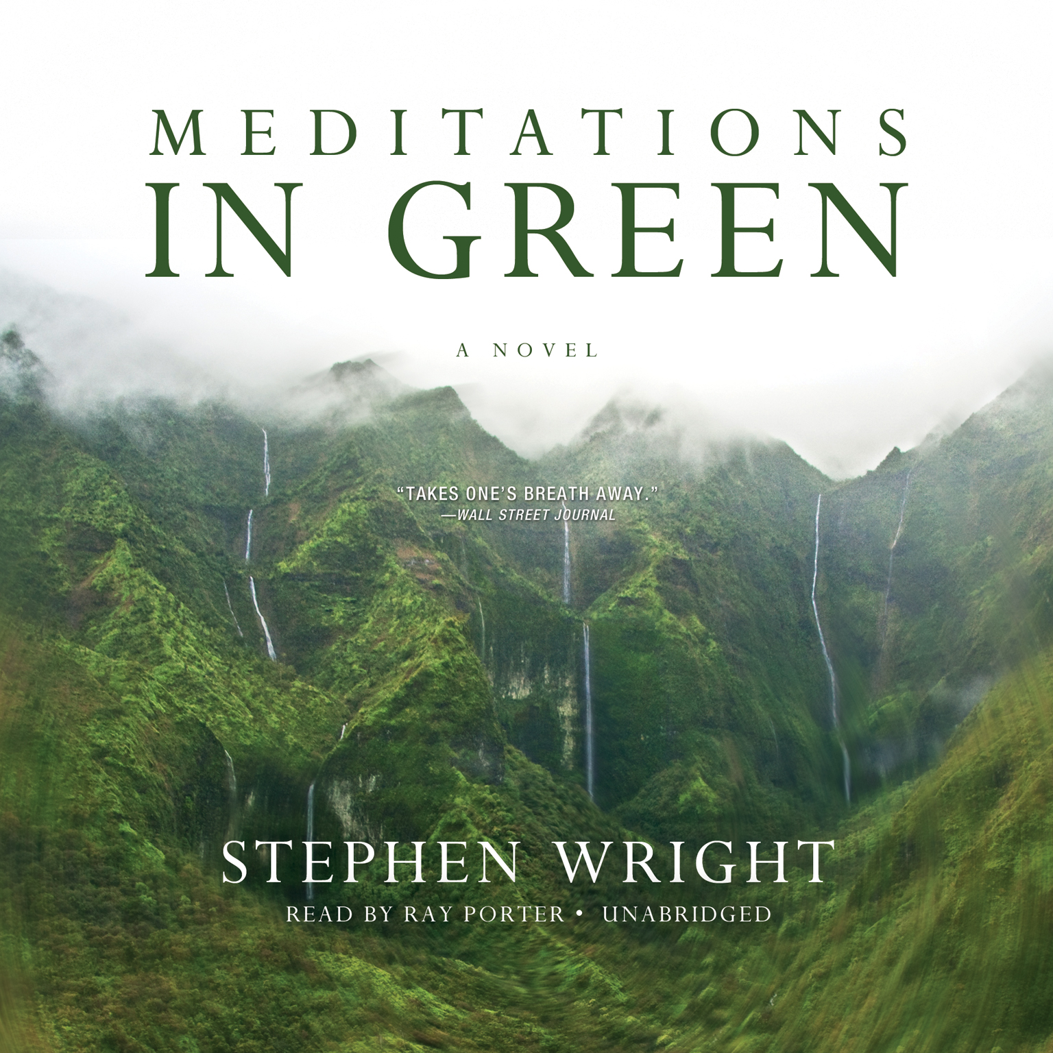 Printable Meditations in Green Audiobook Cover Art