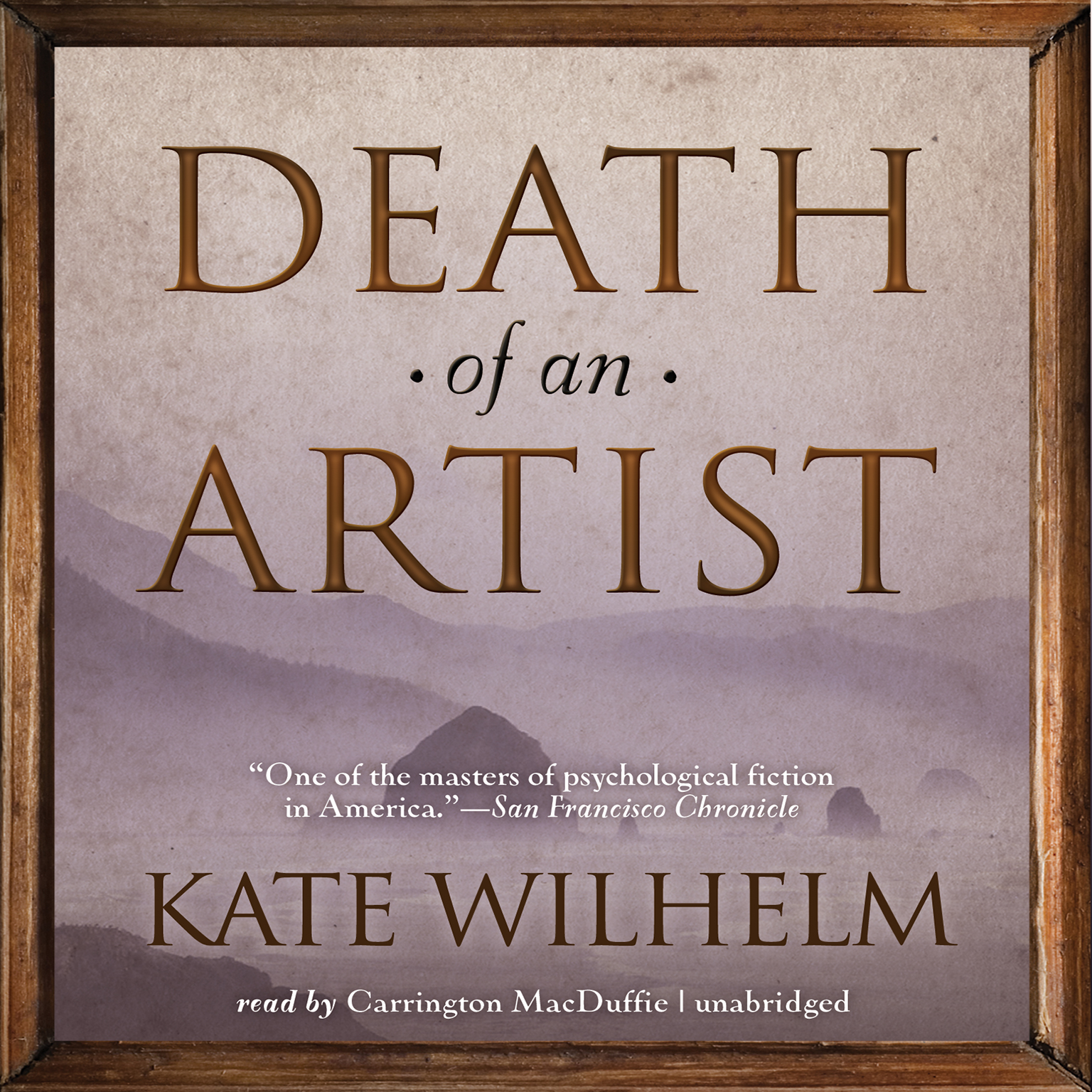 Printable Death of an Artist Audiobook Cover Art