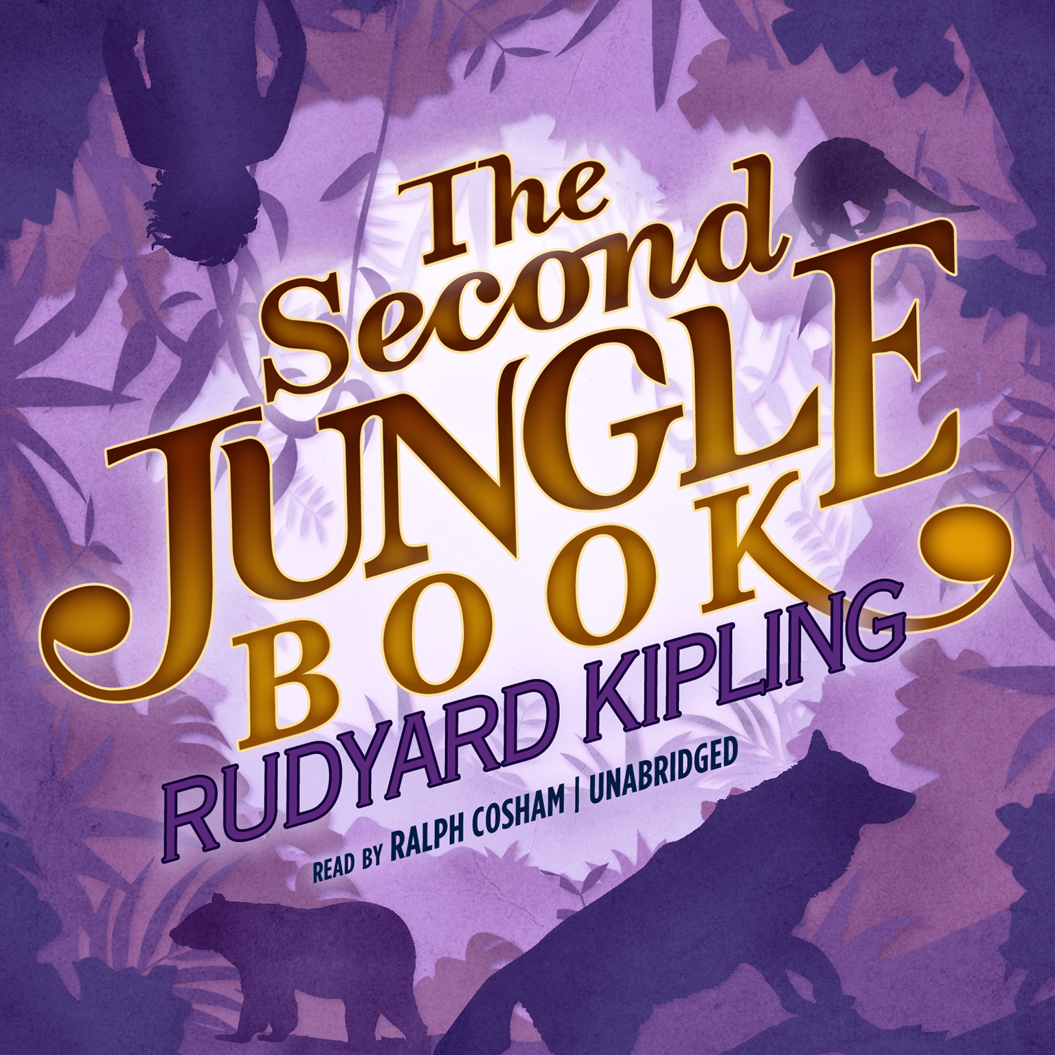 Printable The Second Jungle Book Audiobook Cover Art