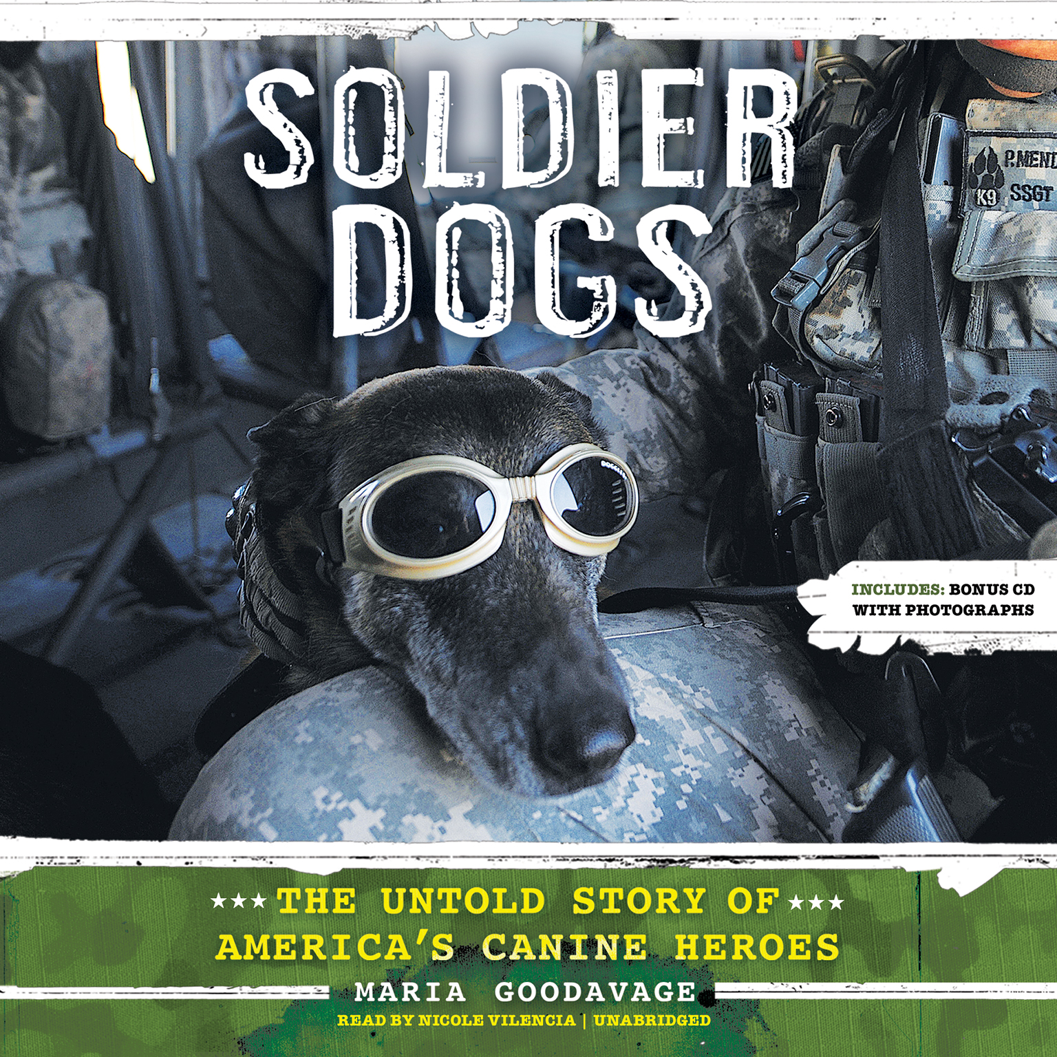 Printable Soldier Dogs: The Untold Story of America's Canine Heroes Audiobook Cover Art