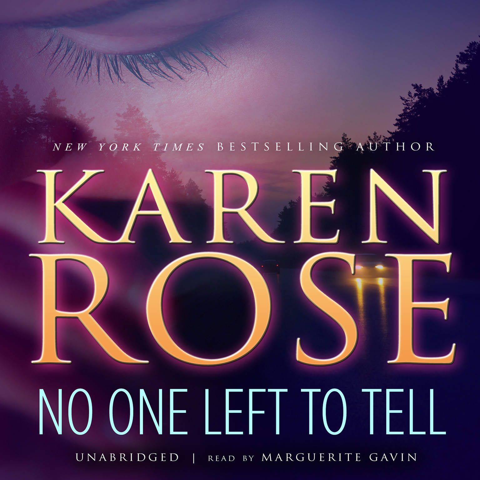 Printable No One Left to Tell Audiobook Cover Art