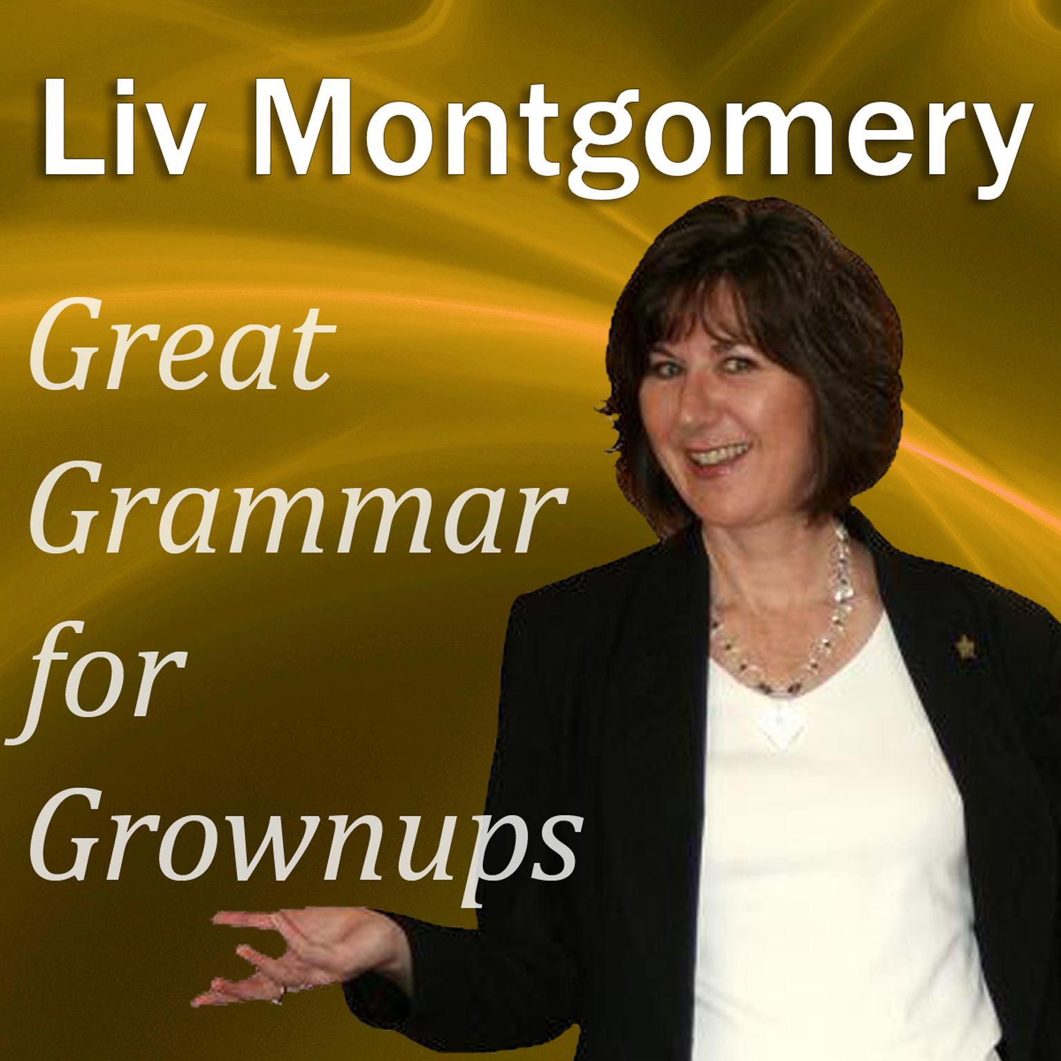 Printable Great Grammar for Grownups Audiobook Cover Art
