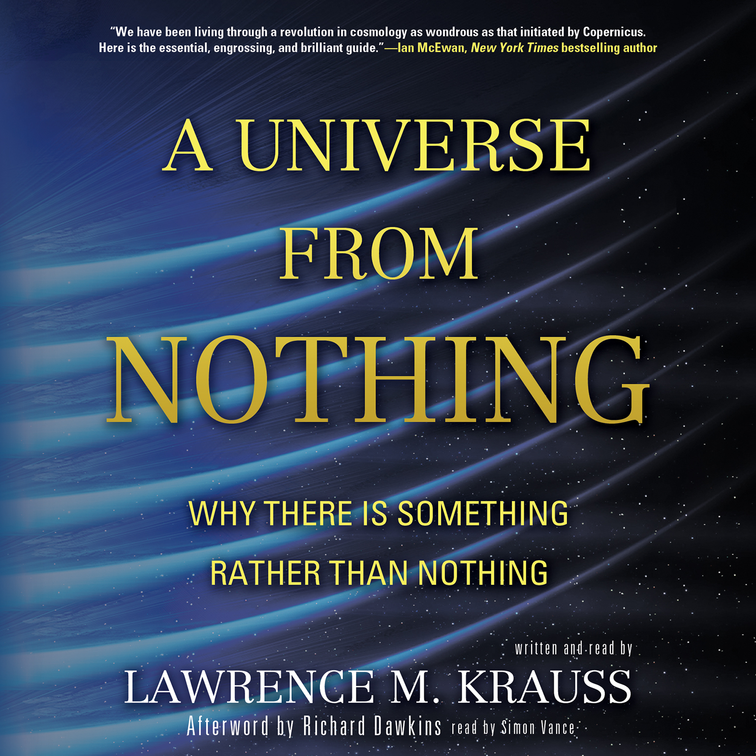 Printable A Universe from Nothing: Why There Is Something Rather Than Nothing Audiobook Cover Art