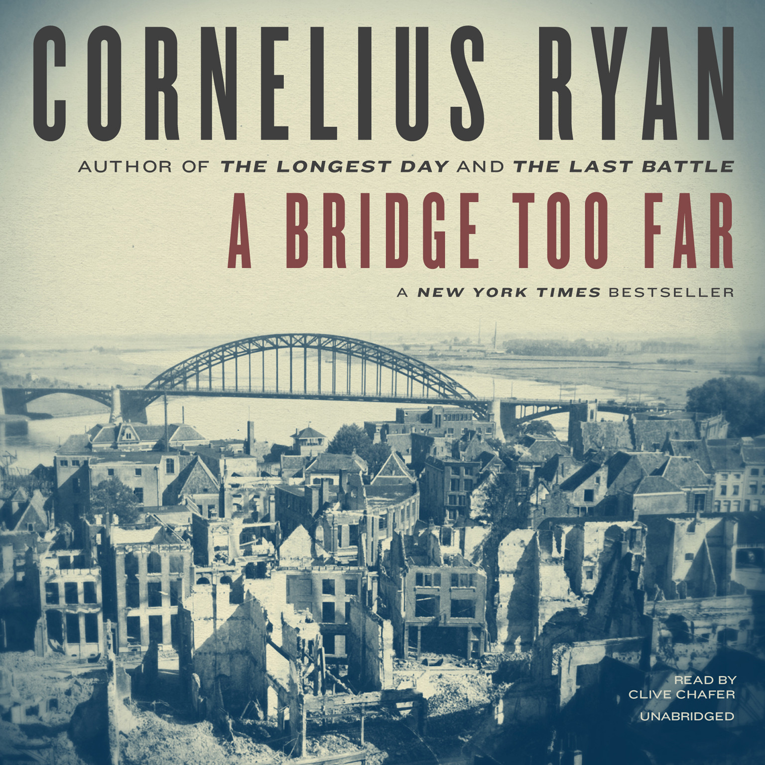 Printable A Bridge Too Far Audiobook Cover Art