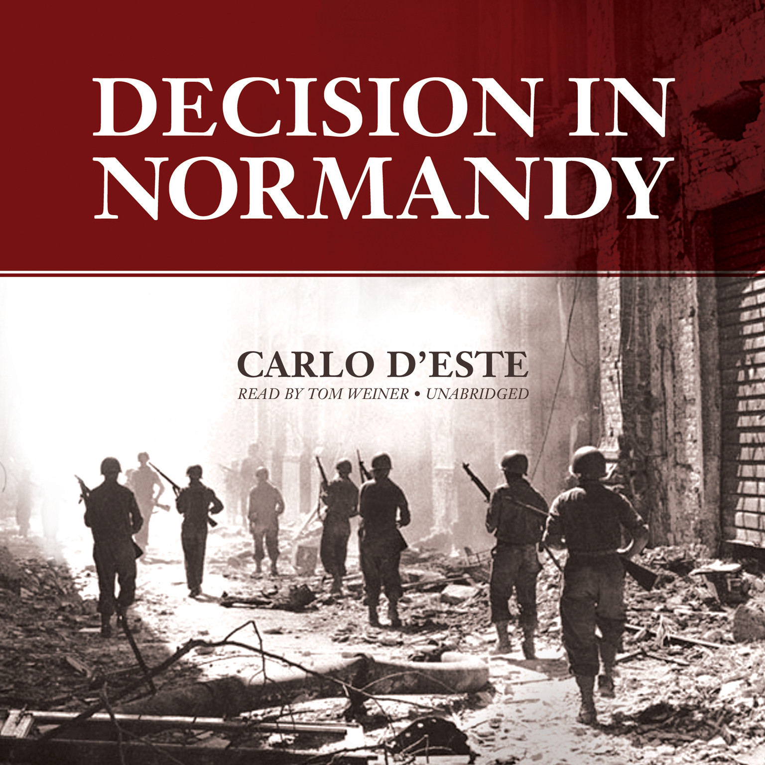 Printable Decision in Normandy Audiobook Cover Art