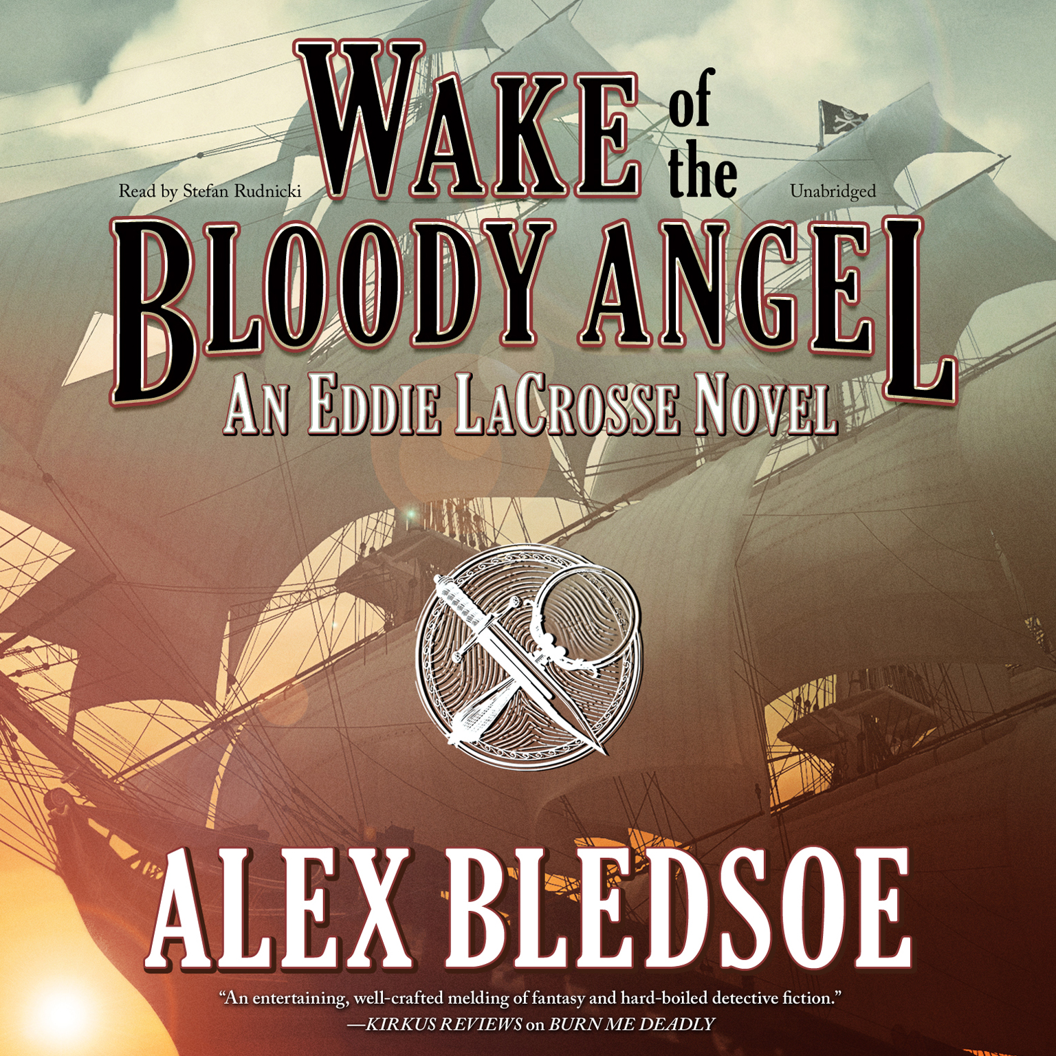 Printable Wake of the Bloody Angel Audiobook Cover Art