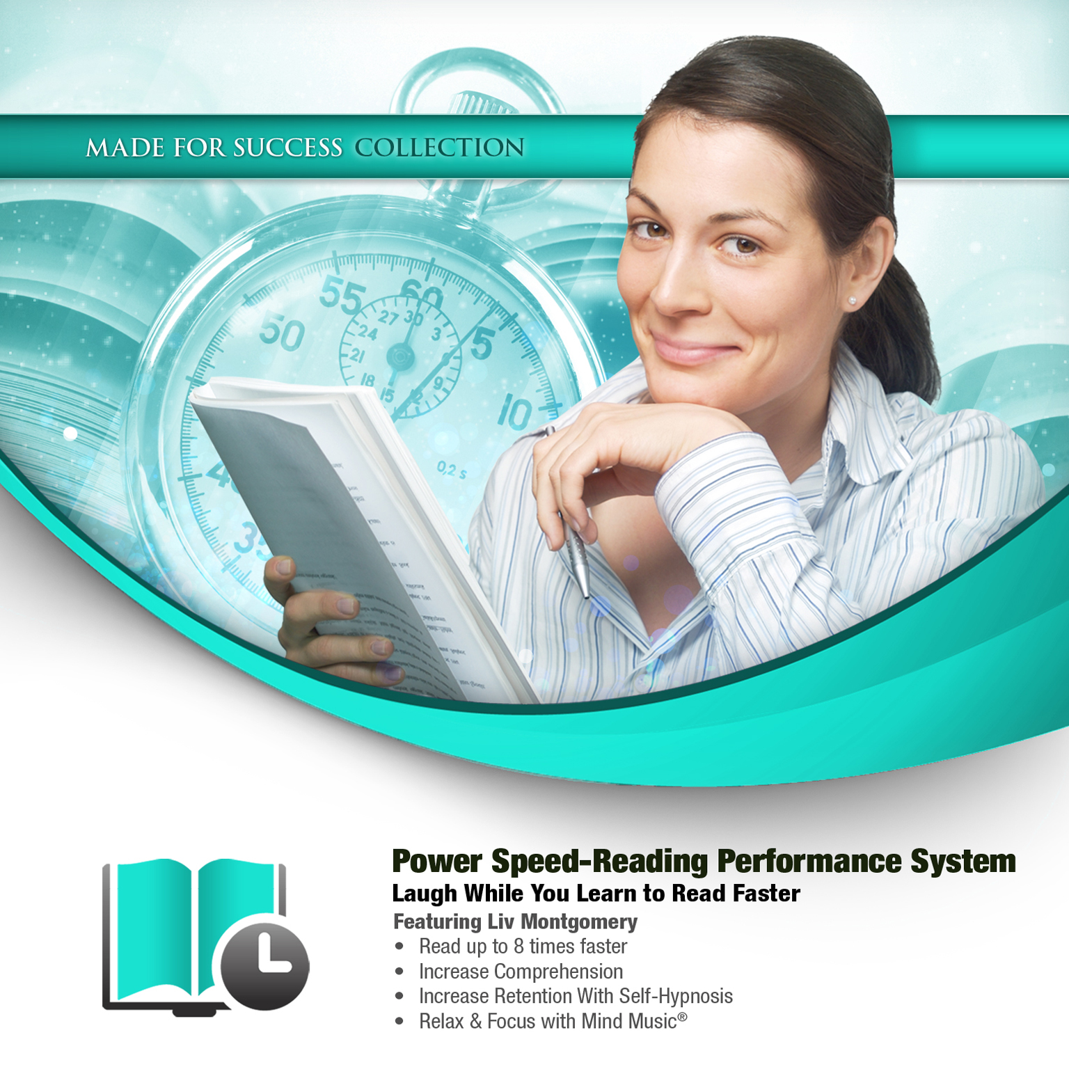 Printable Power Speed-Reading Performance System: Laugh While You Learn to Read Faster Audiobook Cover Art