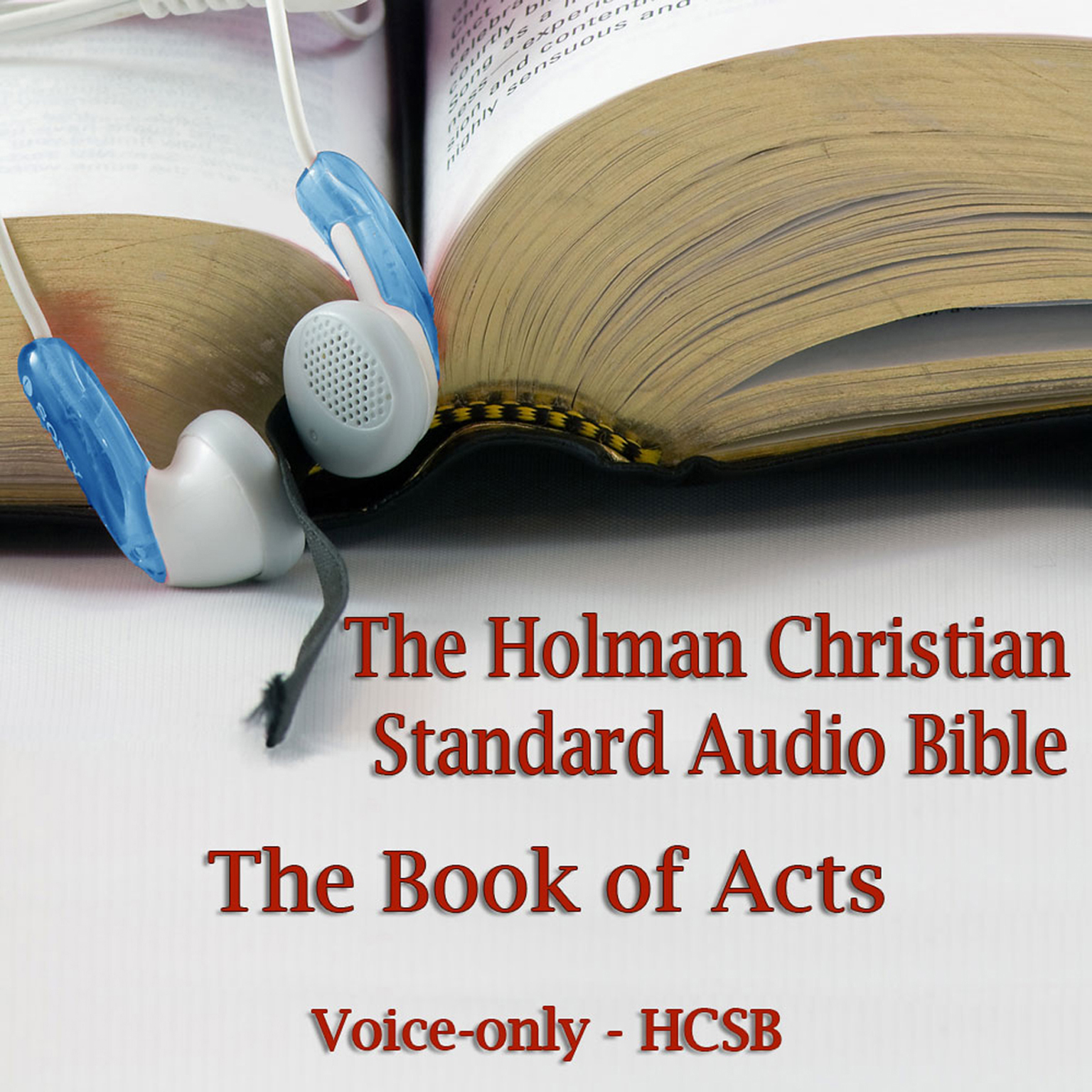 Printable The Book of Acts: The Voice Only Holman Christian Standard Audio Bible (HCSB) Audiobook Cover Art
