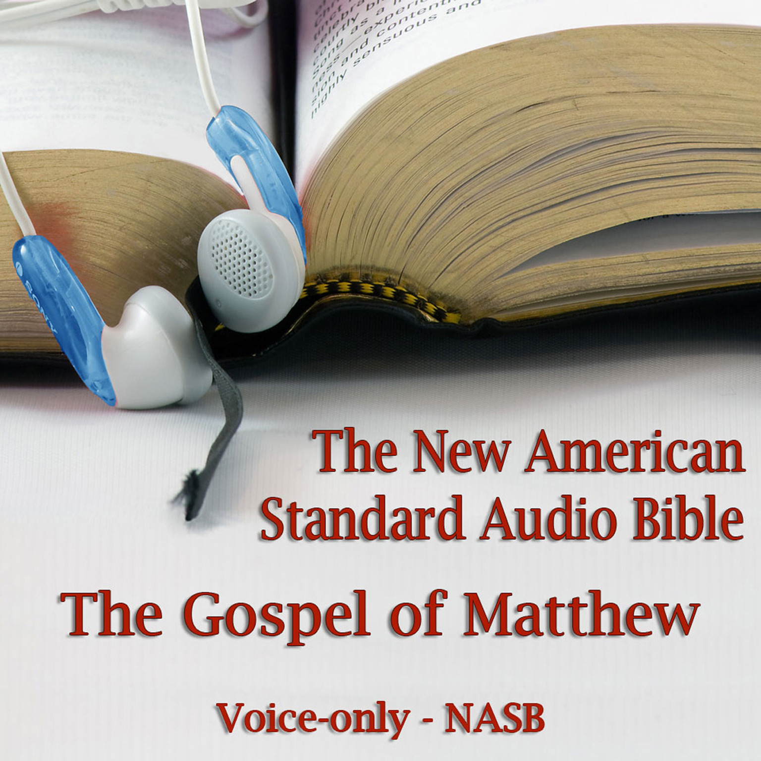 Printable The Gospel of Matthew: The Voice Only New American Standard Bible (NASB) Audiobook Cover Art