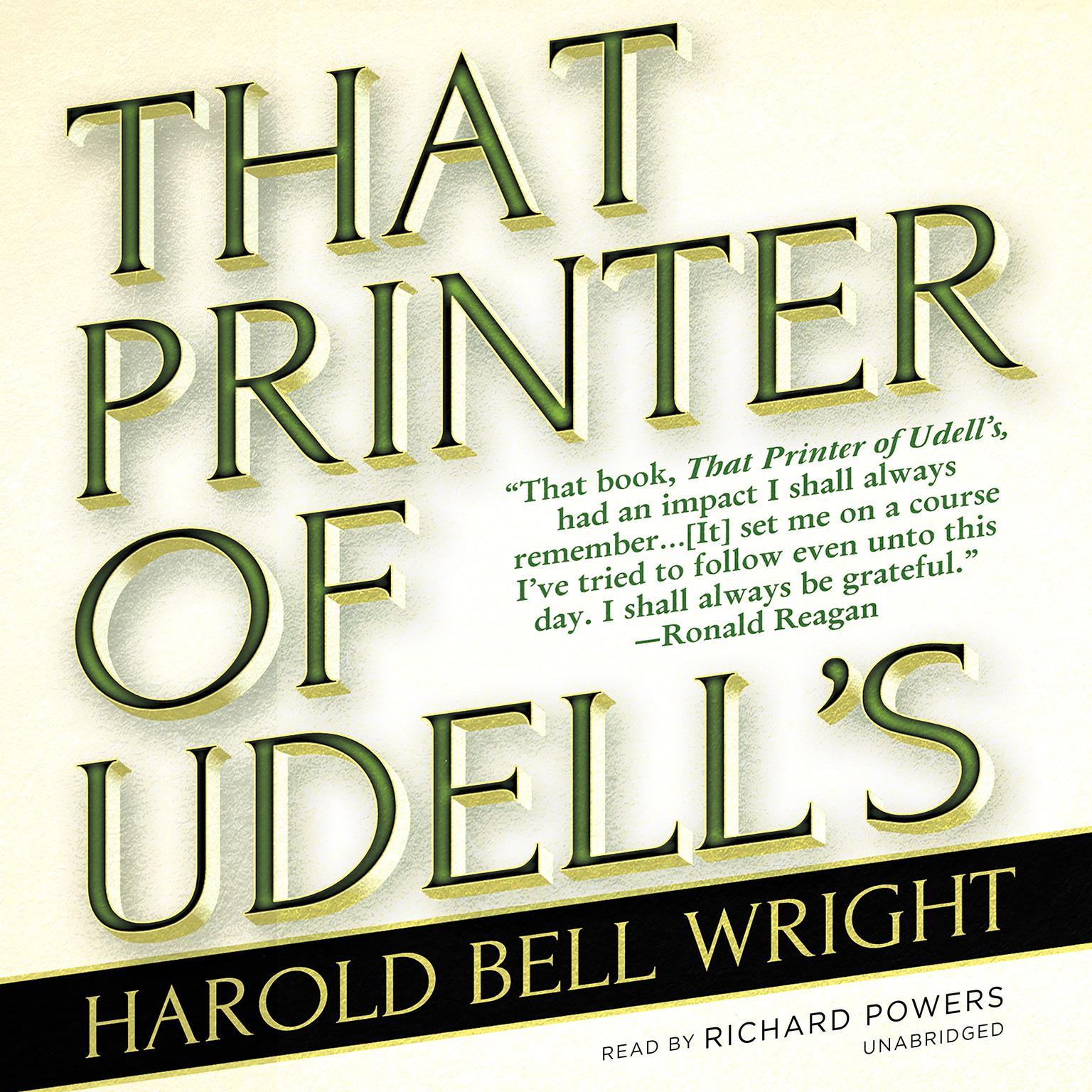 Printable That Printer of Udell's Audiobook Cover Art