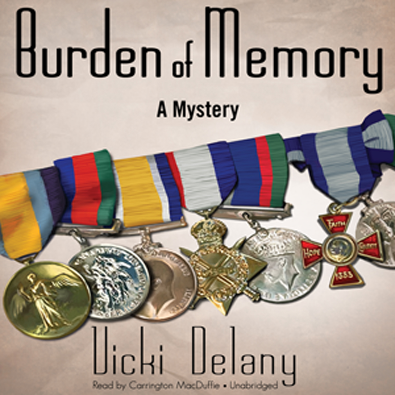 Printable Burden of Memory: A Mystery Audiobook Cover Art