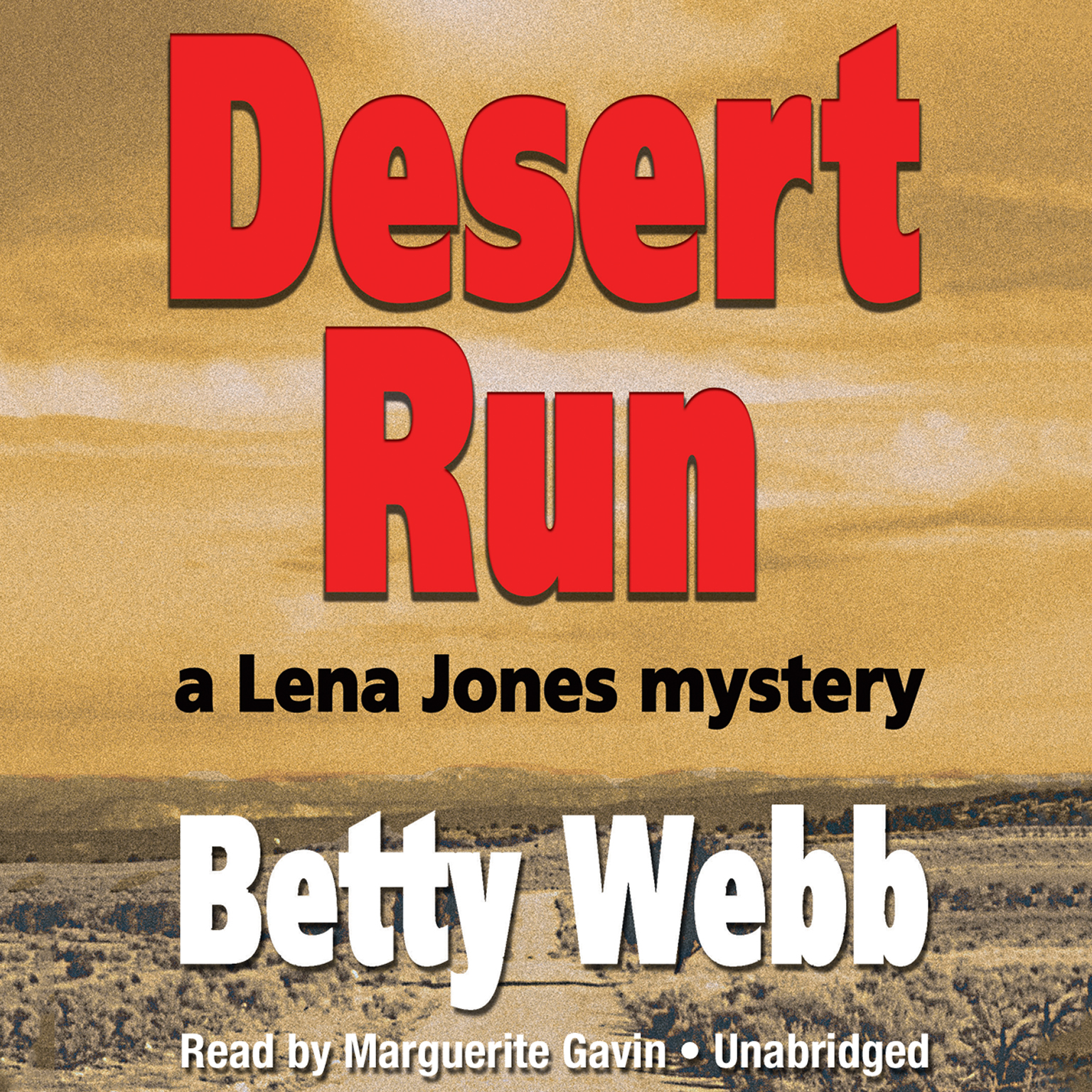 Printable Desert Run: A Lena Jones Mystery Audiobook Cover Art
