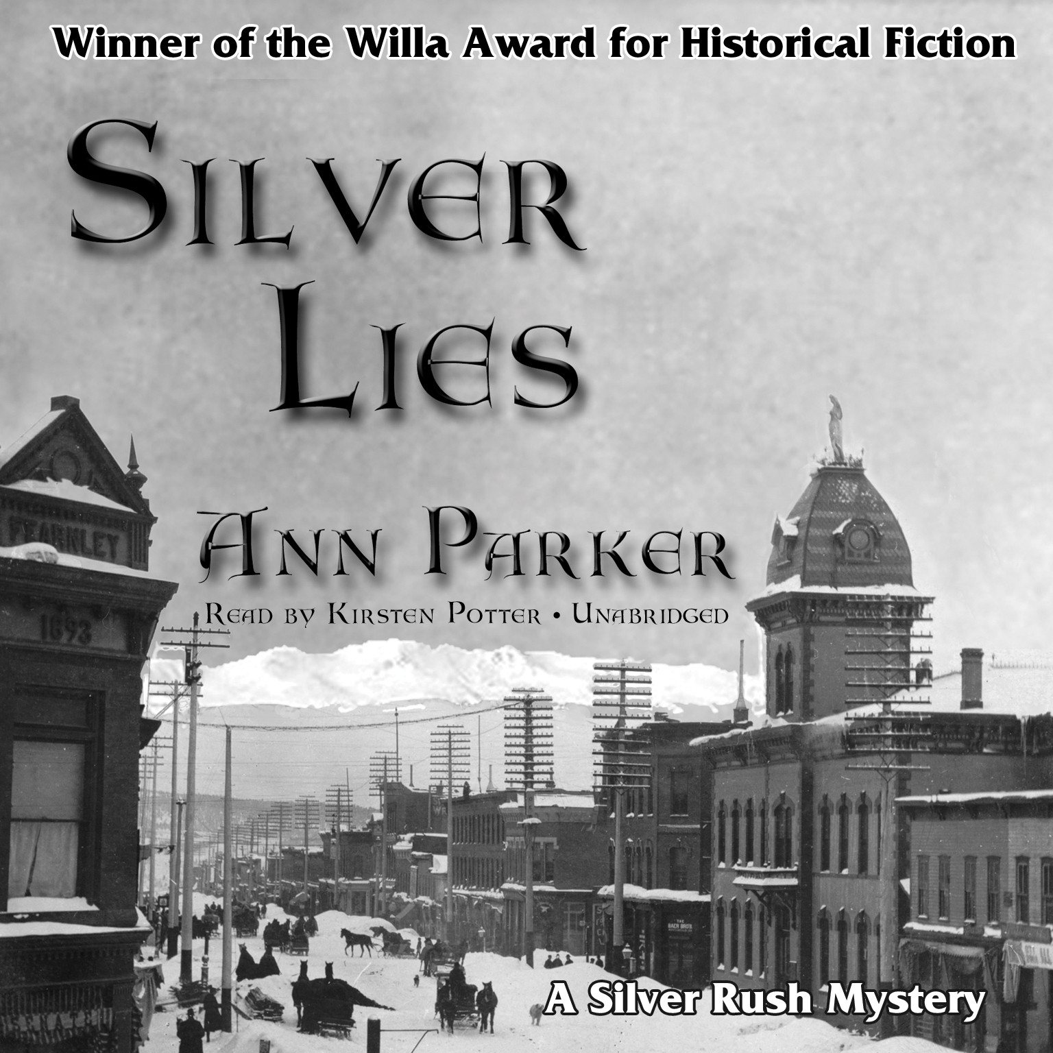 Printable Silver Lies Audiobook Cover Art