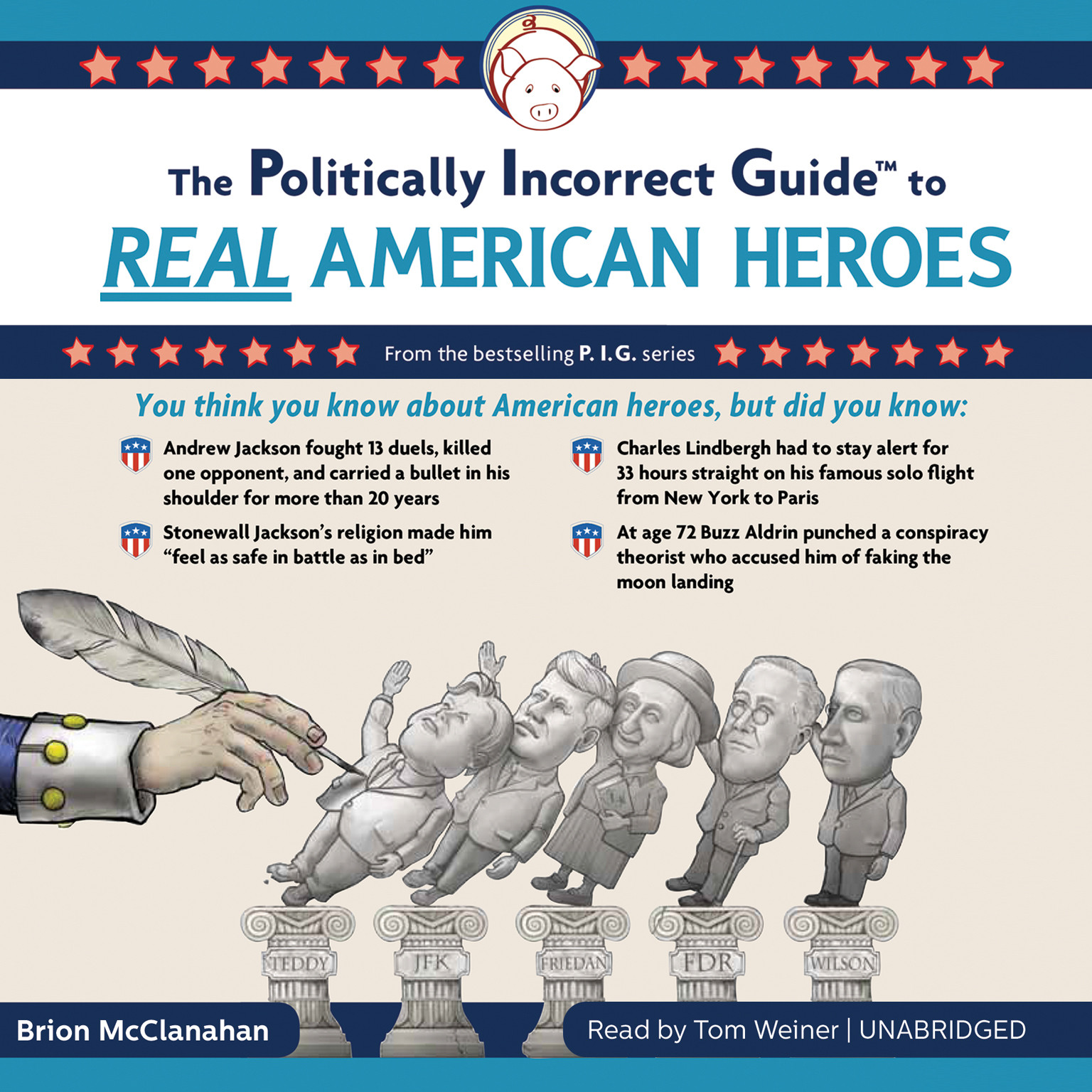 Printable The Politically Incorrect Guide to Real American Heroes Audiobook Cover Art