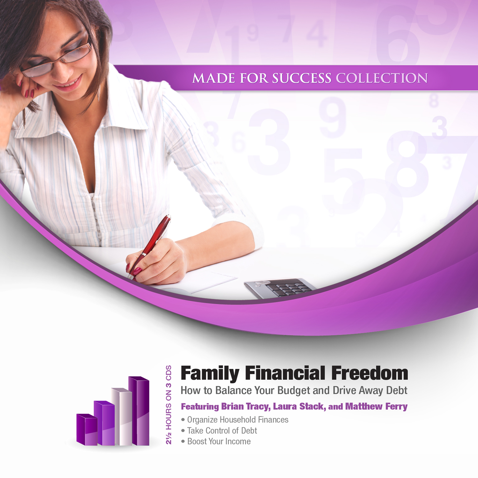 Printable Family Financial Freedom: How to Balance Your Budget and Drive Away Debt Audiobook Cover Art