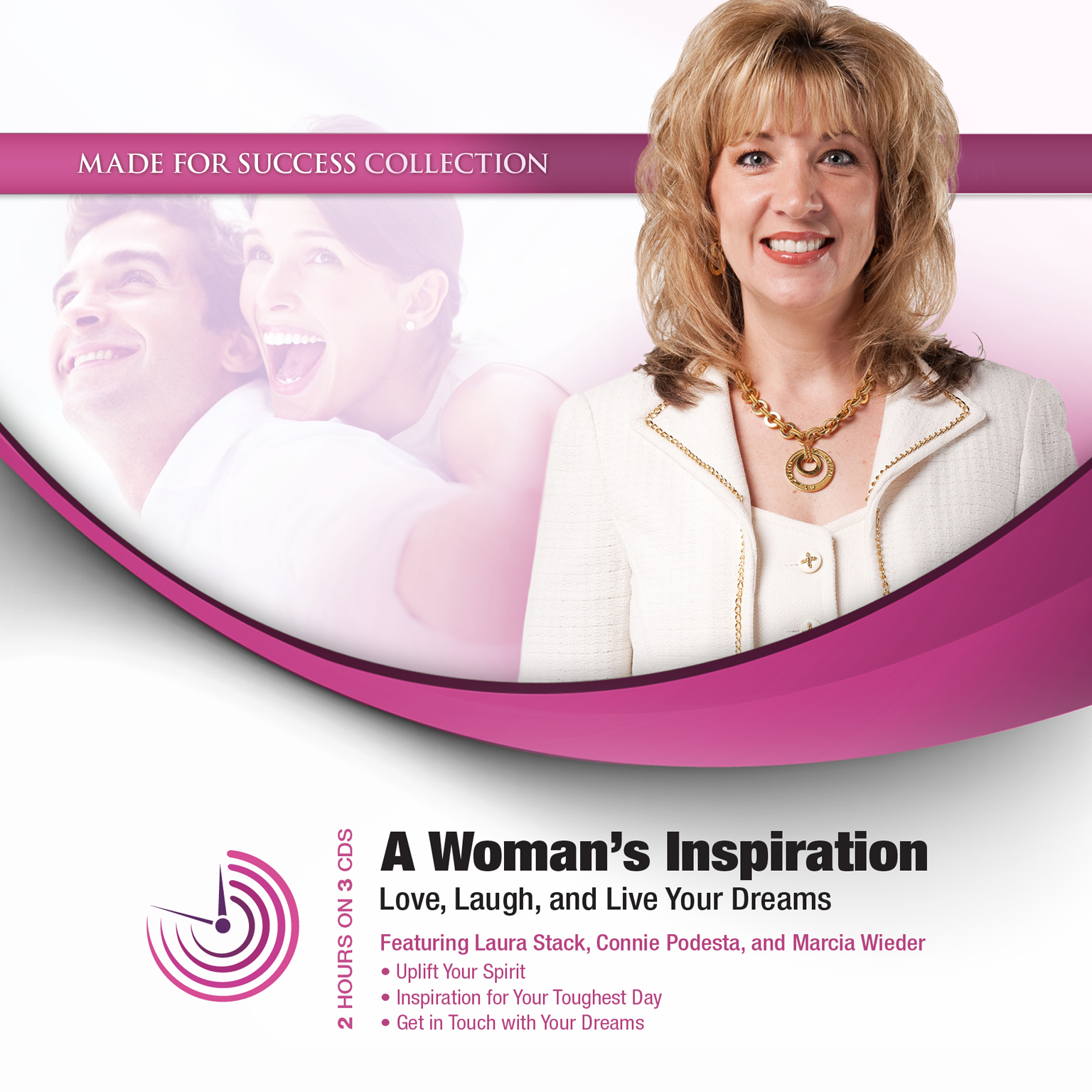 Printable A Woman's Inspiration: Love, Laugh, and Live Your Dreams Audiobook Cover Art