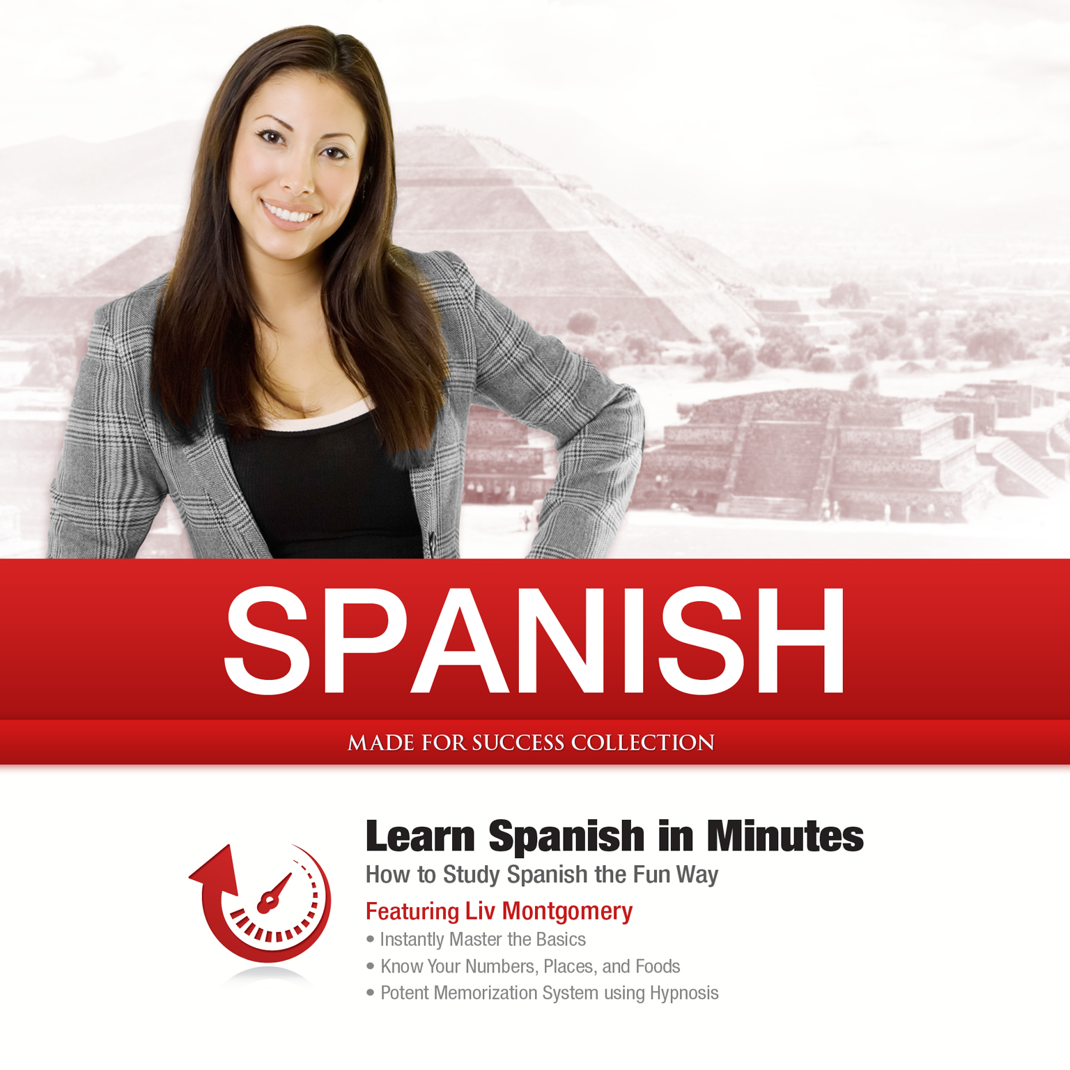 Printable Spanish in Minutes: How to Study Spanish the Fun Way Audiobook Cover Art