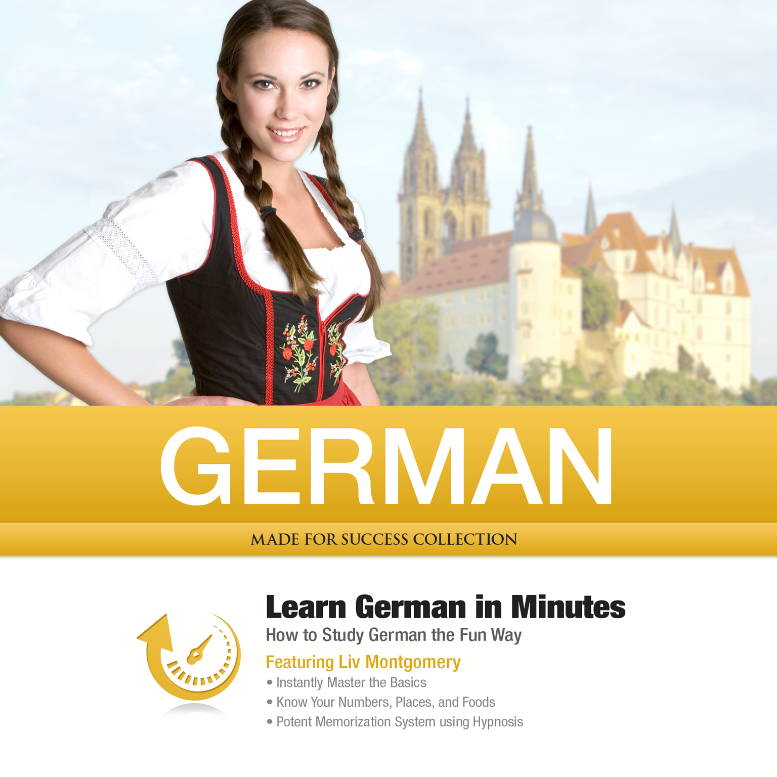 Printable German in Minutes: How to Study German the Fun Way Audiobook Cover Art