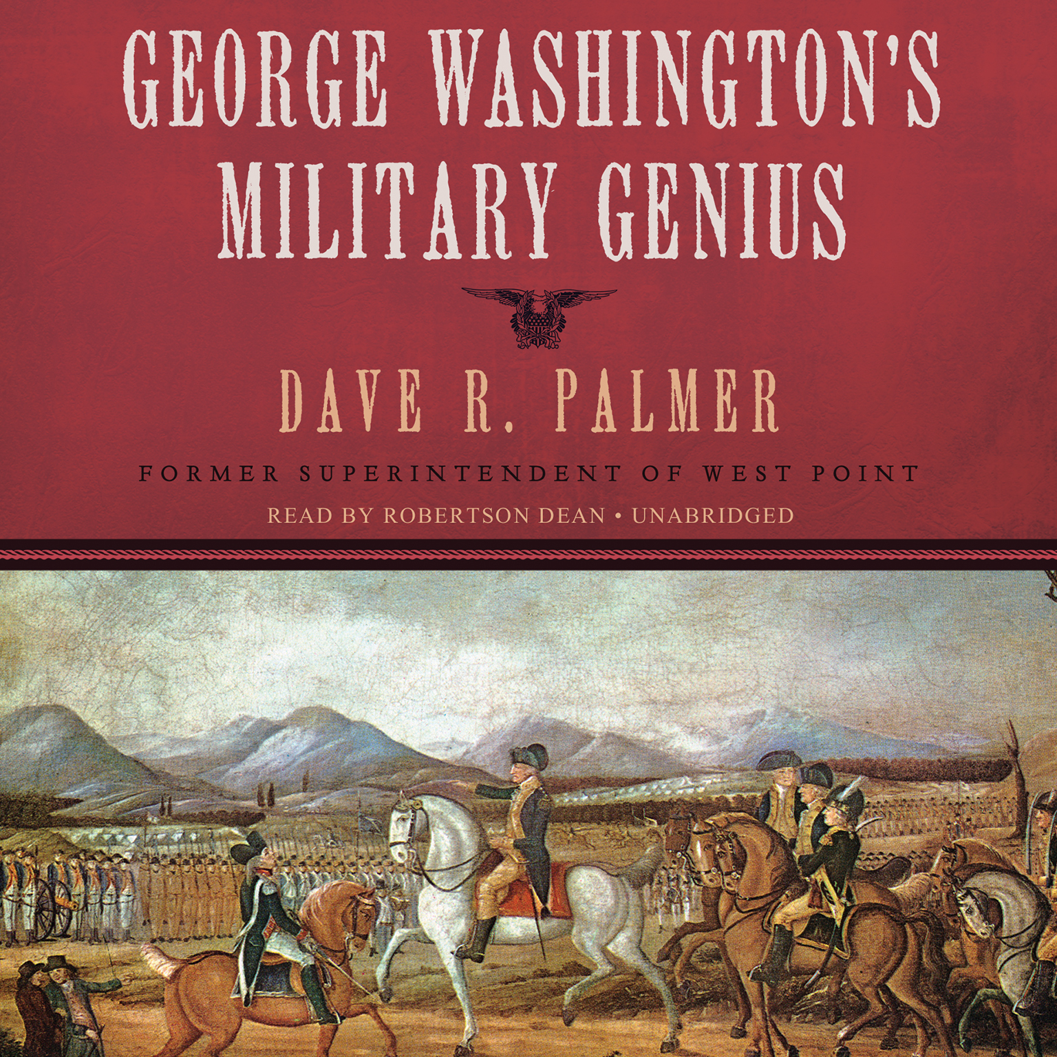 Printable George Washington's Military Genius Audiobook Cover Art