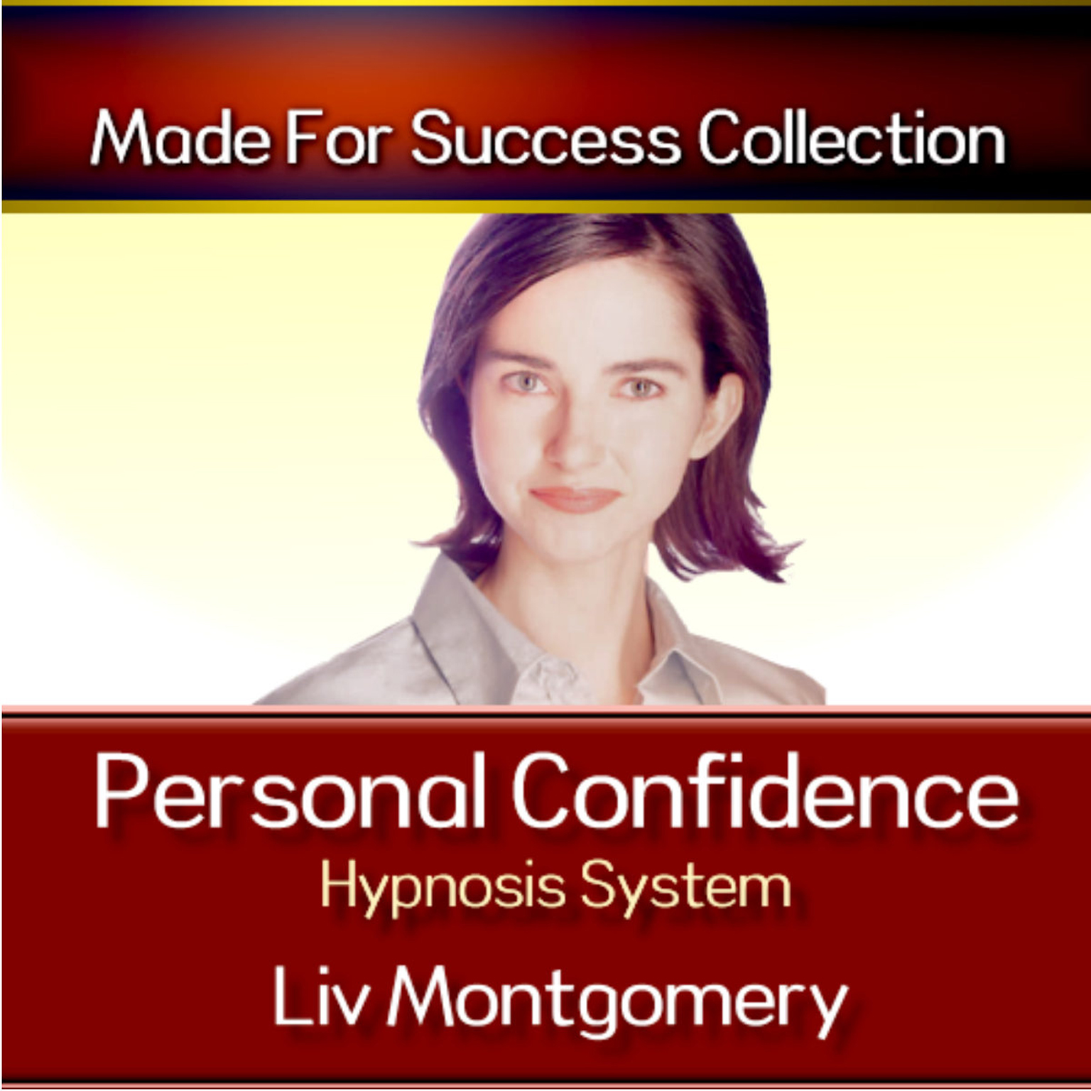 Printable Personal Confidence Hypnosis System Audiobook Cover Art