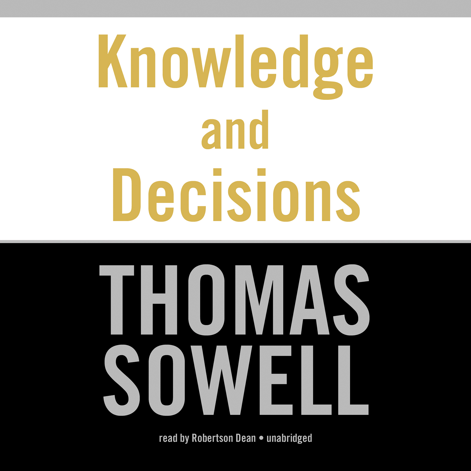 Printable Knowledge and Decisions Audiobook Cover Art
