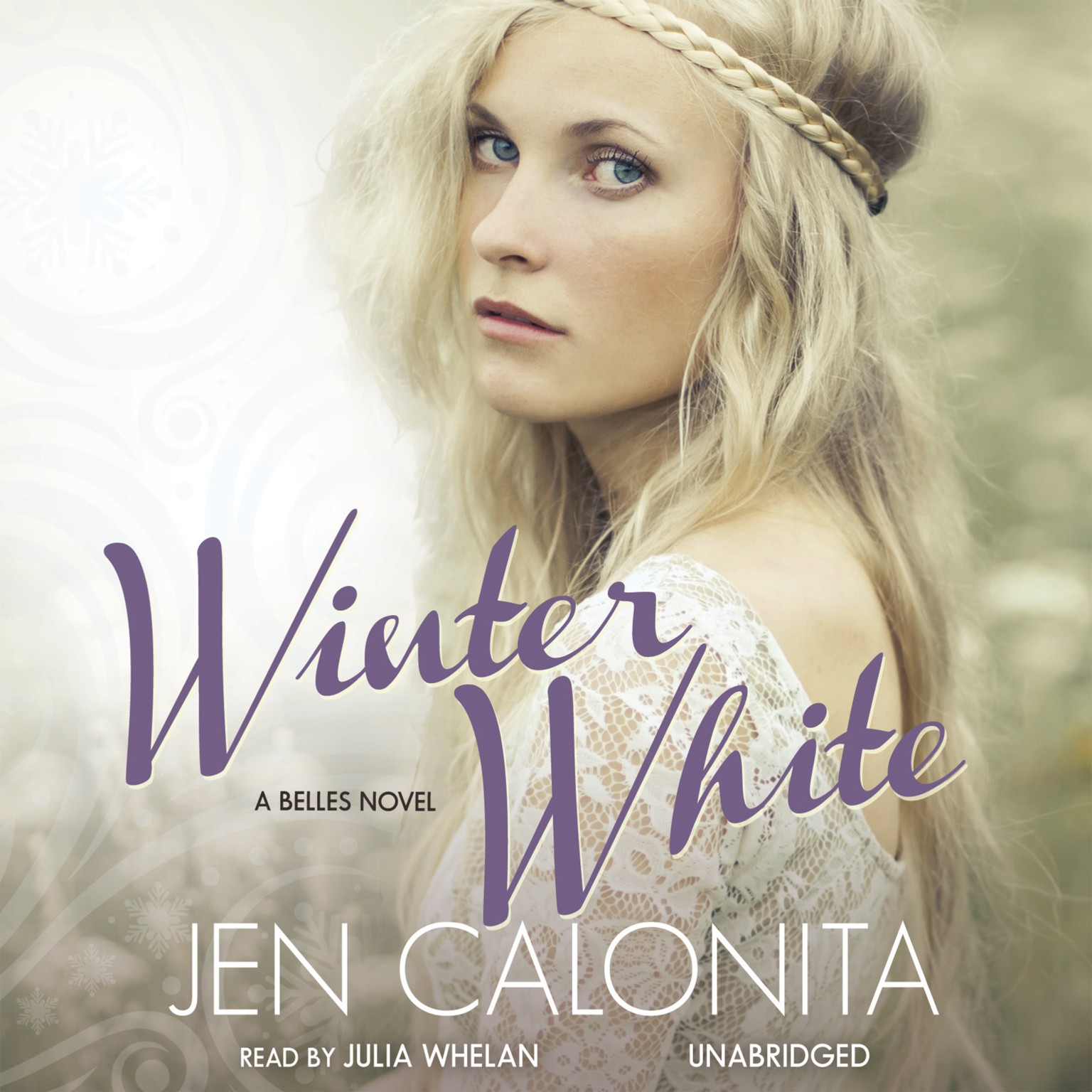 Printable Winter White Audiobook Cover Art