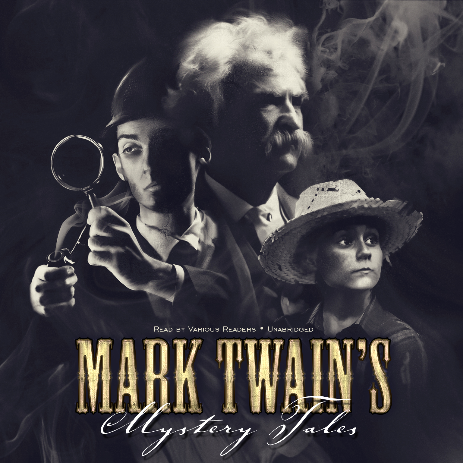 Printable Mark Twain's Mystery Tales Audiobook Cover Art