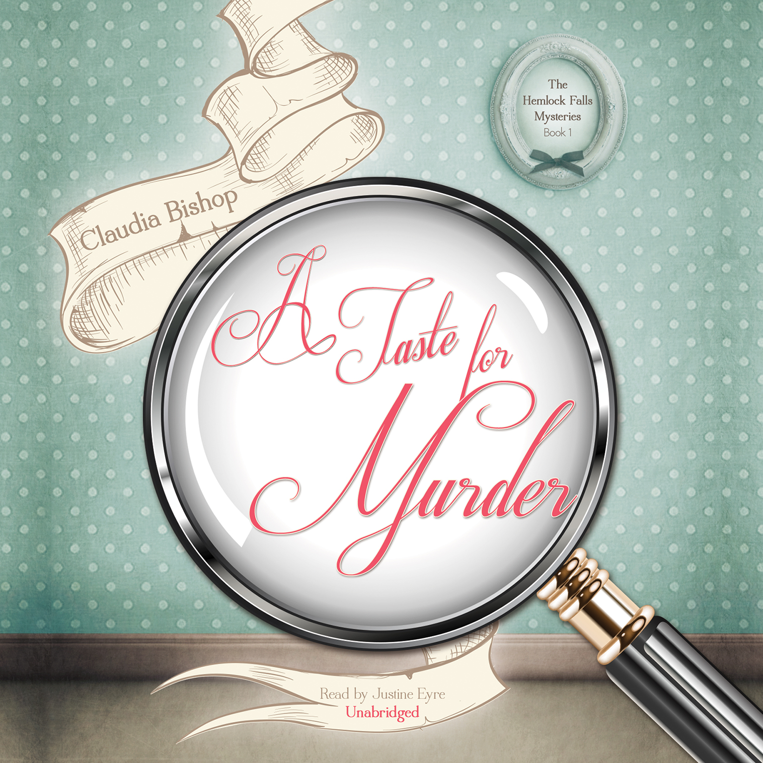 Printable A Taste for Murder Audiobook Cover Art