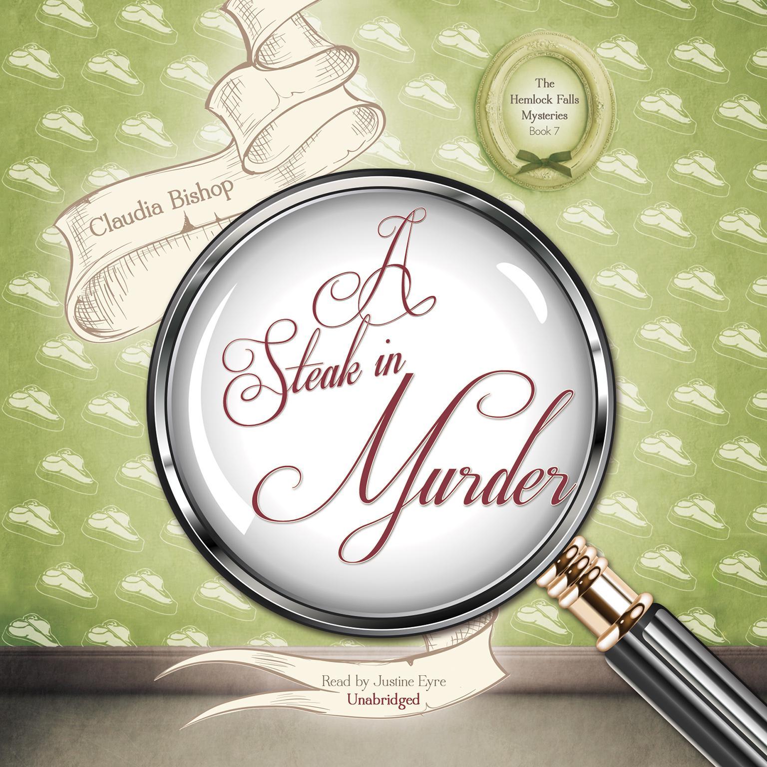 Printable A Steak in Murder Audiobook Cover Art