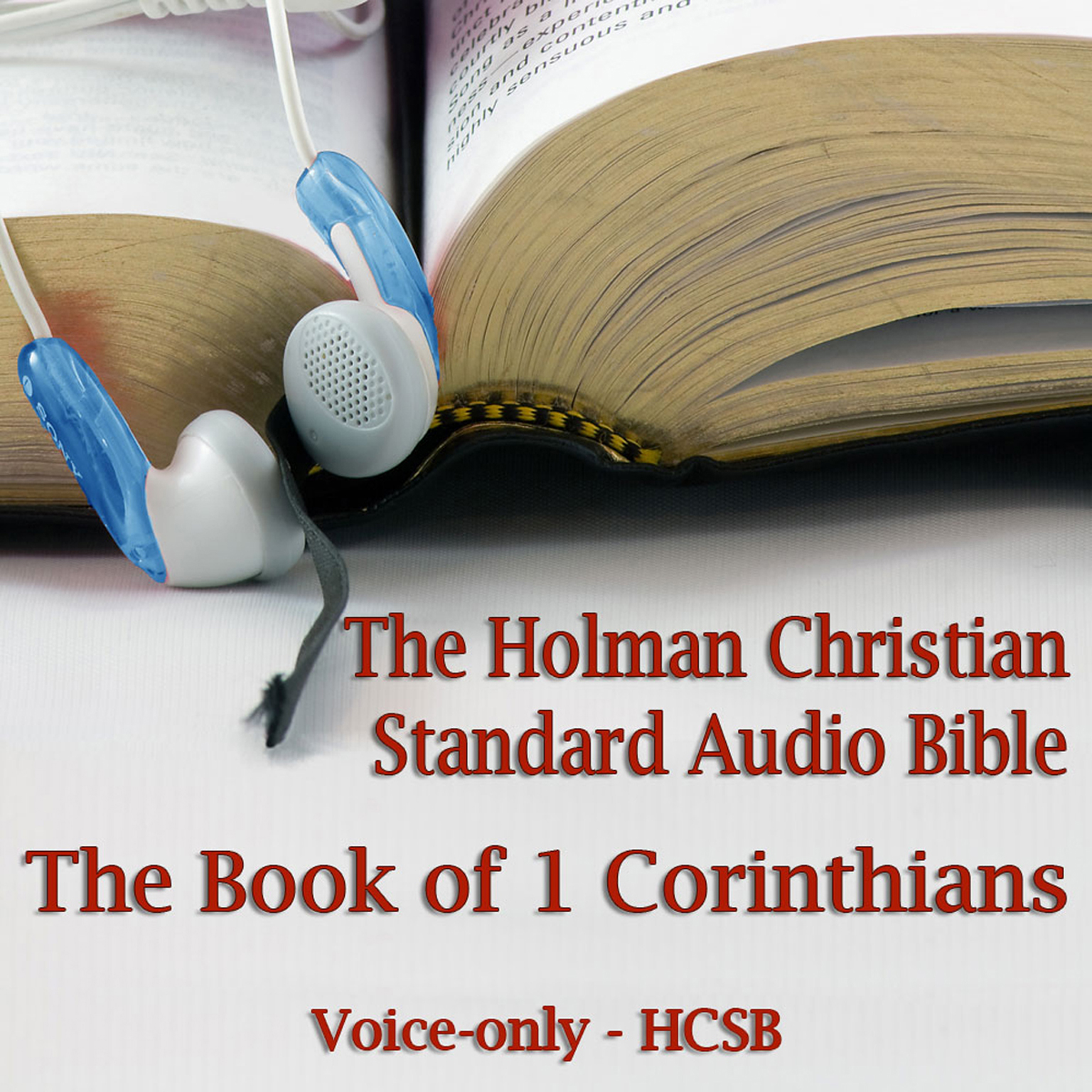 Printable The Book of 1st Corinthians: The Voice-Only Holman Christian Standard Audio Bible (HCSB) Audiobook Cover Art