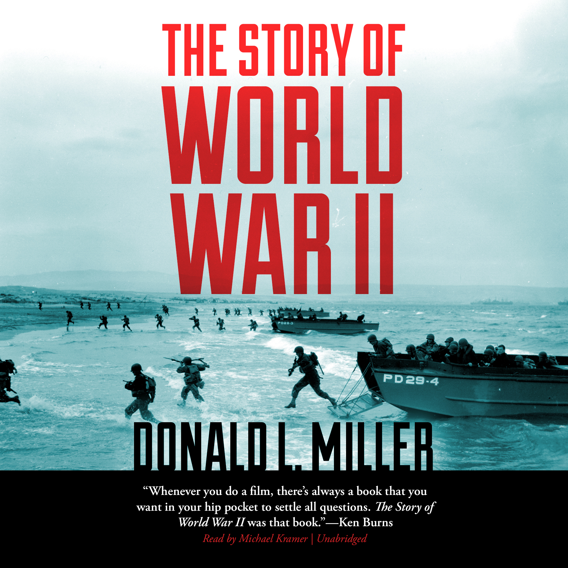 Printable The Story of World War II Audiobook Cover Art