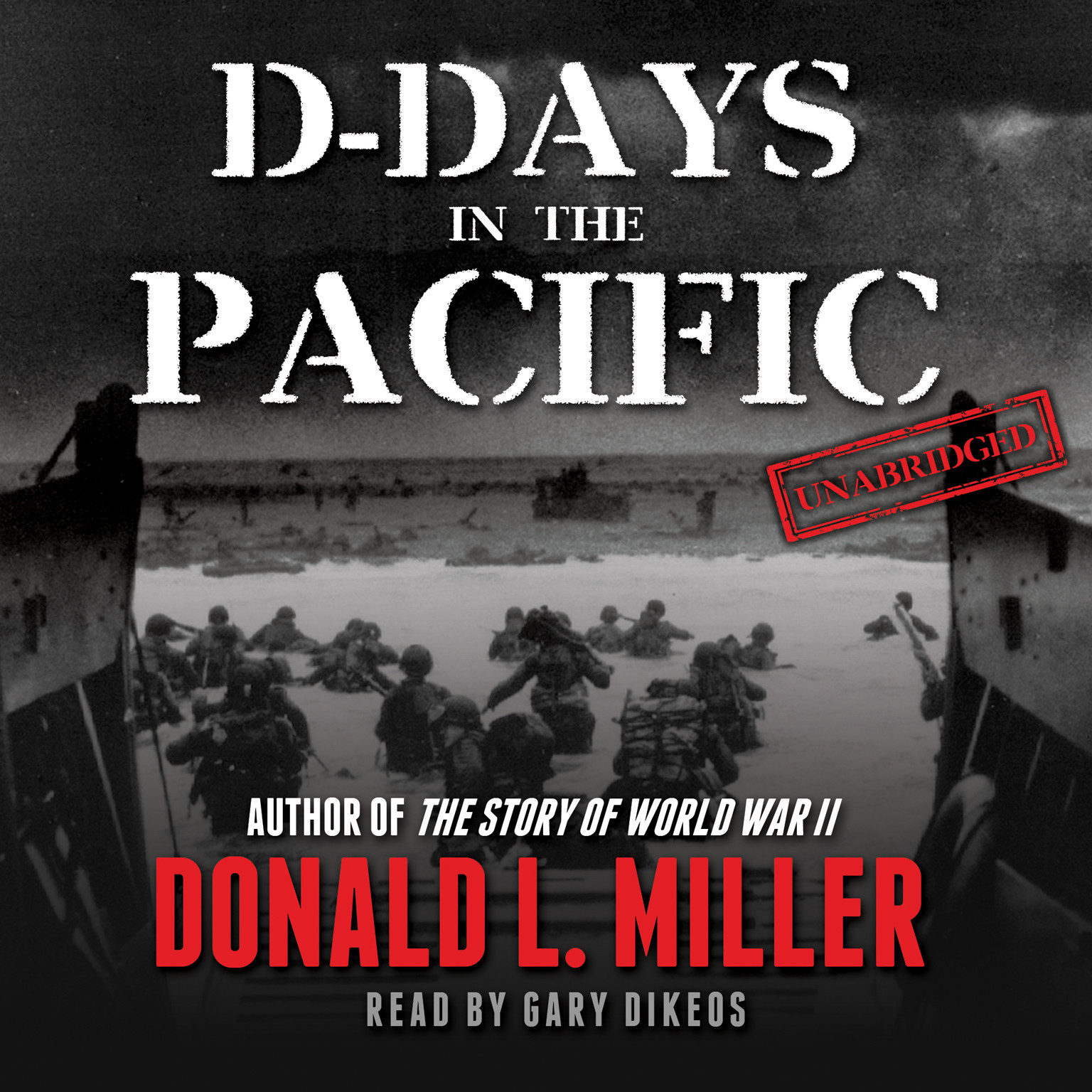 Printable D-Days in the Pacific Audiobook Cover Art