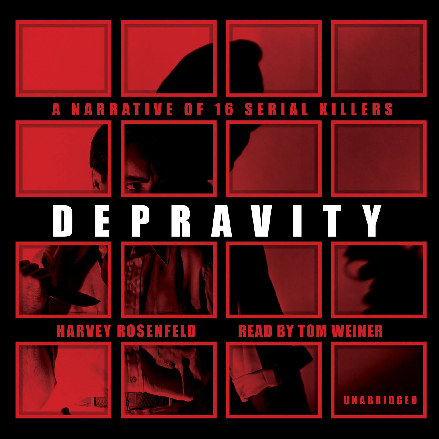 Printable Depravity: A Narrative of 16 Serial Killers Audiobook Cover Art