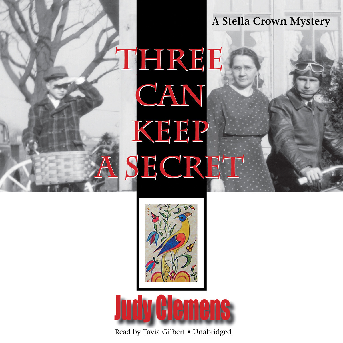 Printable Three Can Keep a Secret: A Stella Crown Mystery Audiobook Cover Art
