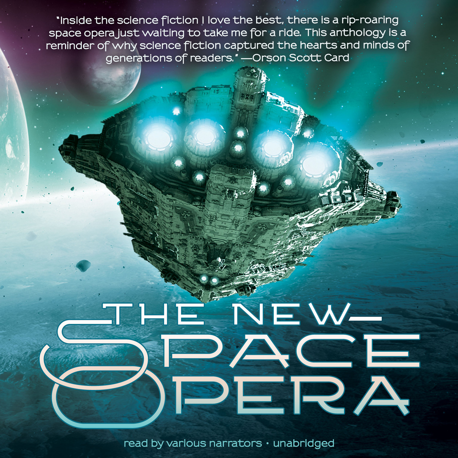 Printable The New Space Opera Audiobook Cover Art