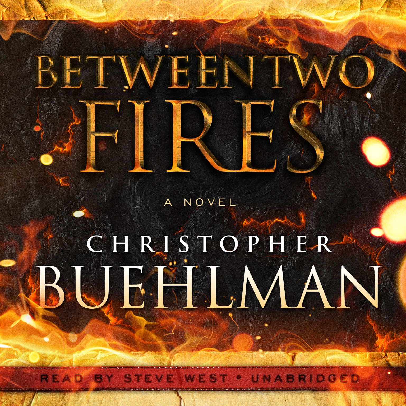Printable Between Two Fires Audiobook Cover Art