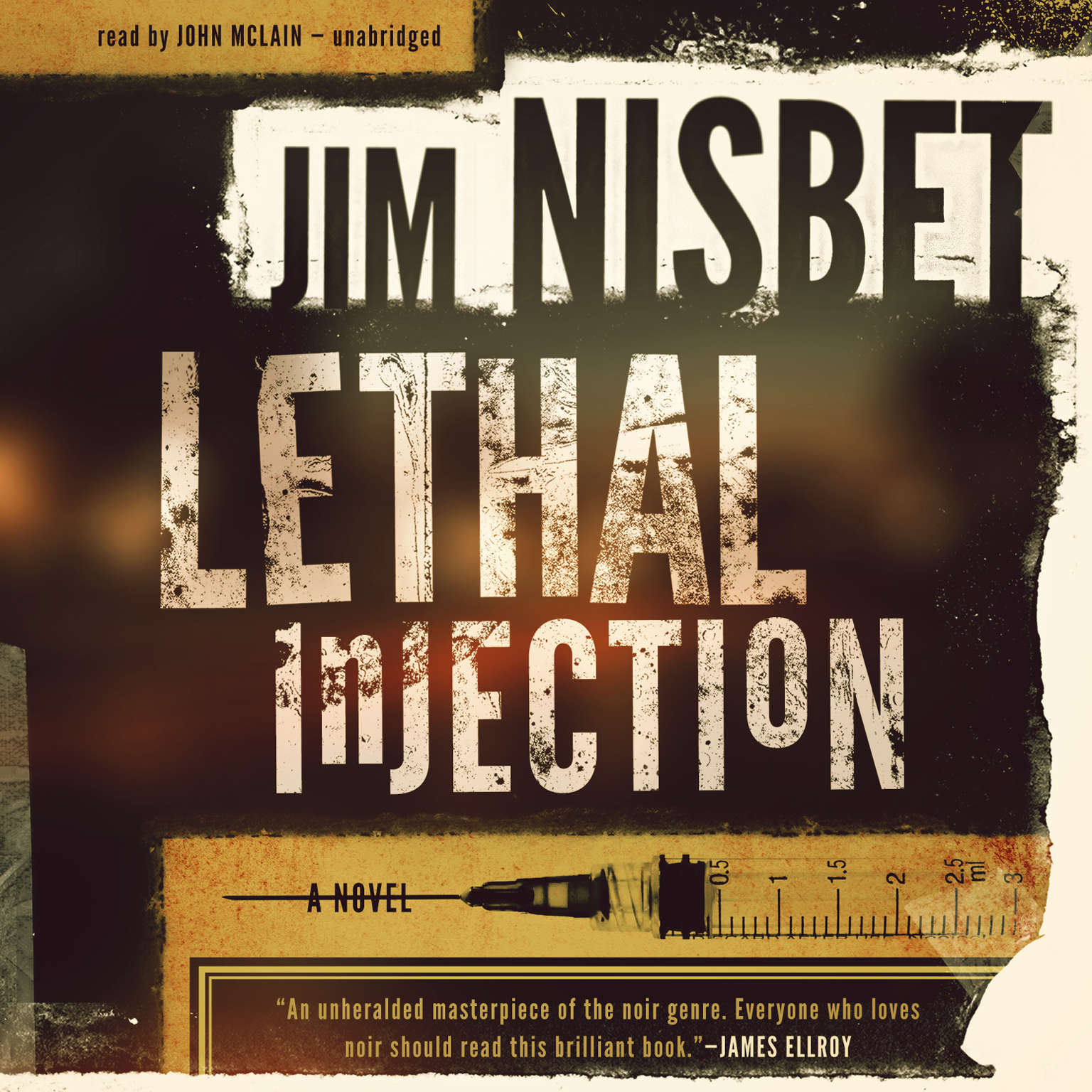 Printable Lethal Injection: A Novel Audiobook Cover Art