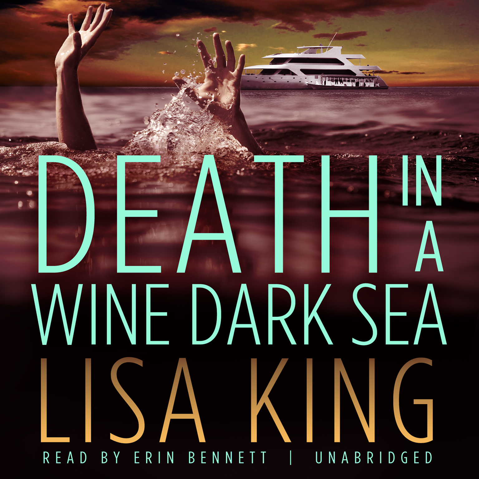 Printable Death in a Wine Dark Sea Audiobook Cover Art