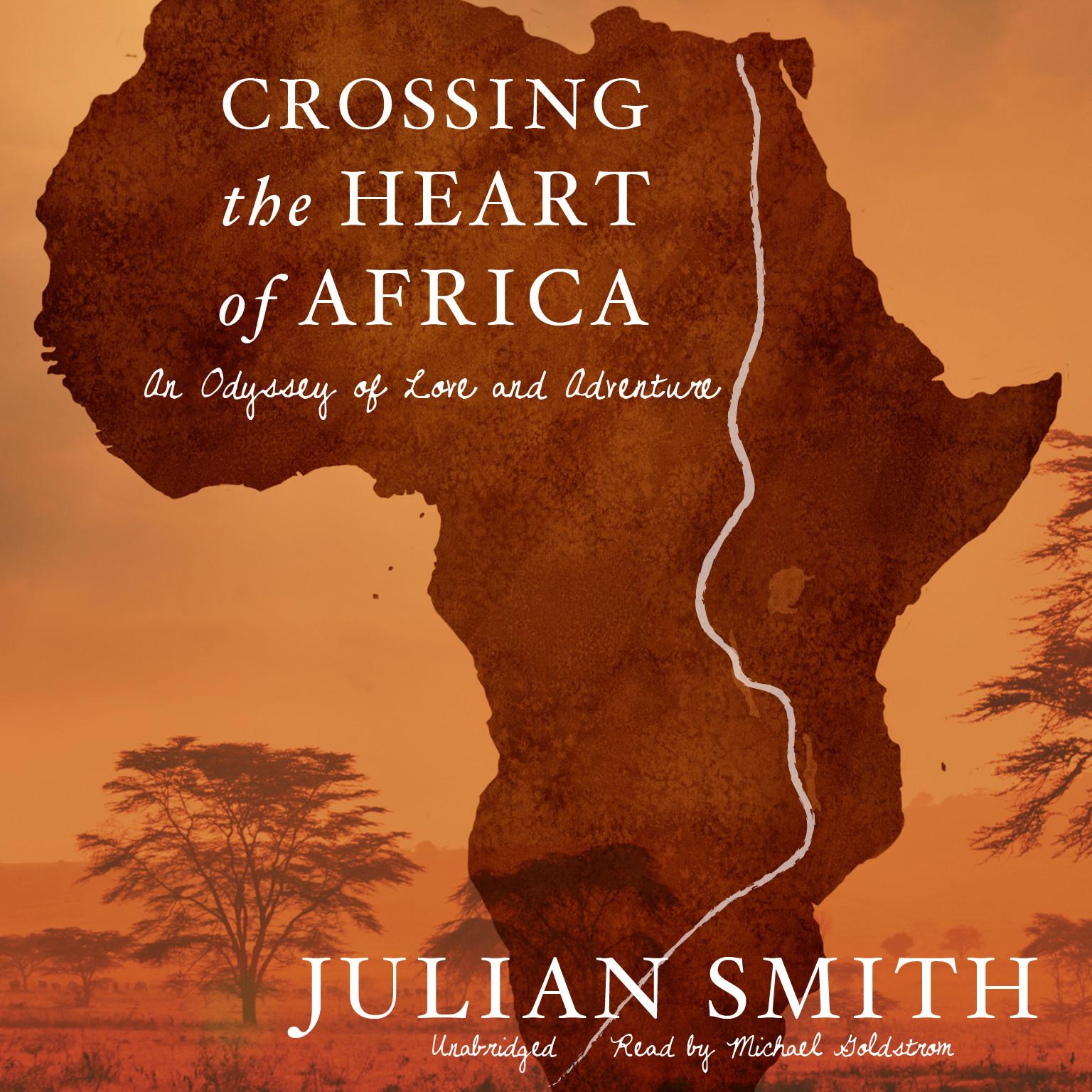 Printable Crossing the Heart of Africa: An Odyssey of Love and Adventure Audiobook Cover Art