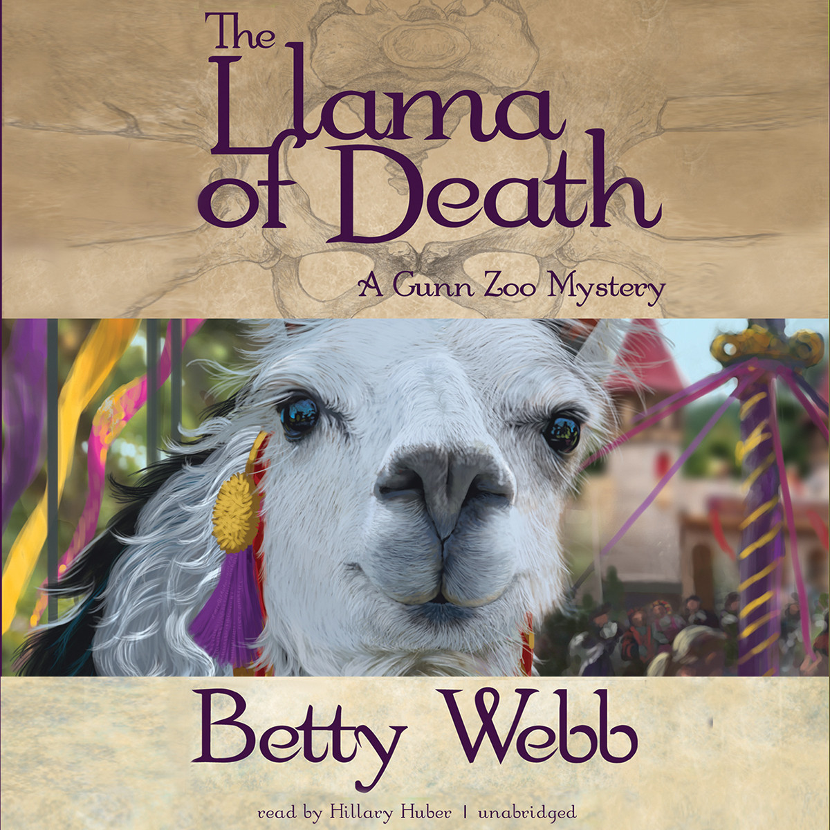 Printable The Llama of Death: A Gunn Zoo Mystery Audiobook Cover Art