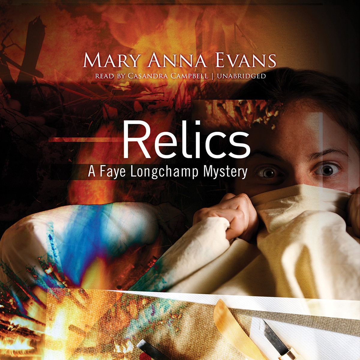 Printable Relics: AFaye Longchamp Mystery Audiobook Cover Art