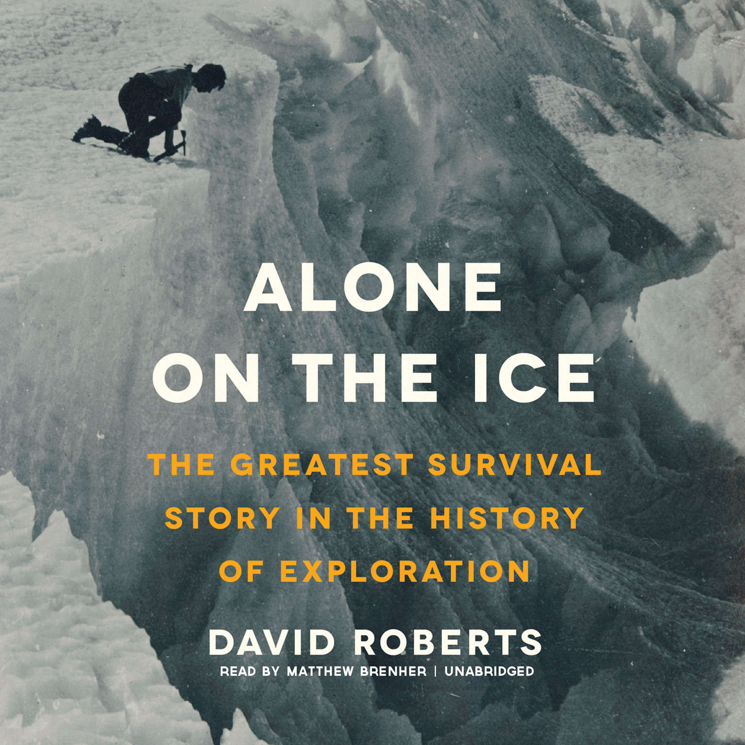 Printable Alone on the Ice: The Greatest Survival Story in the History of Exploration Audiobook Cover Art