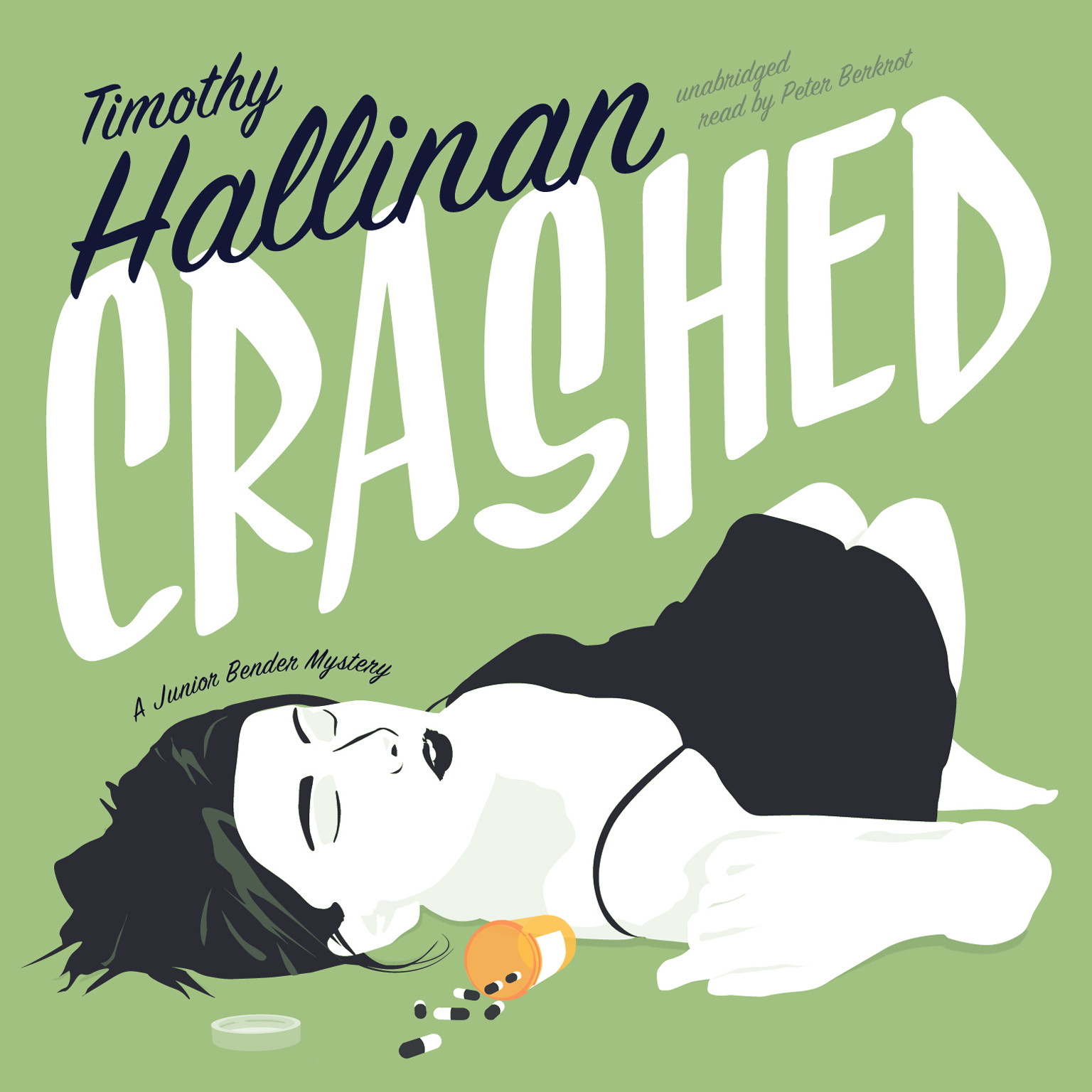Printable Crashed: A Junior Bender Mystery Audiobook Cover Art